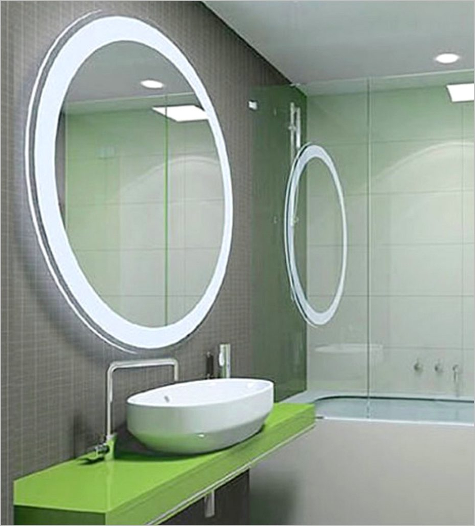 Popular Large Lighted Bathroom Mirror (View 4 of 20)
