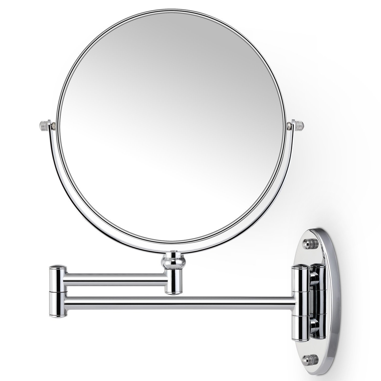 Popular Magnifying Wall Mirrors Inside Cosprof Bathroom Mirror 10x/1x Magnification Double Sided 8 Inch Wall Mounted Vanity Magnifying Mirror (View 13 of 20)