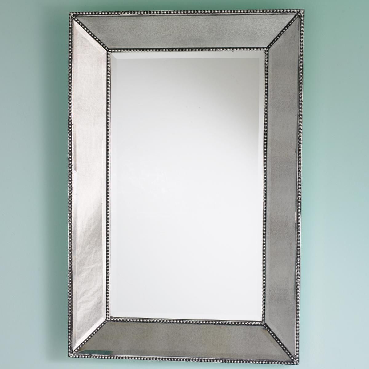 Popular Maude Accent Mirrors Regarding Beaded Frame Mirror – Shades Of Light (View 15 of 20)