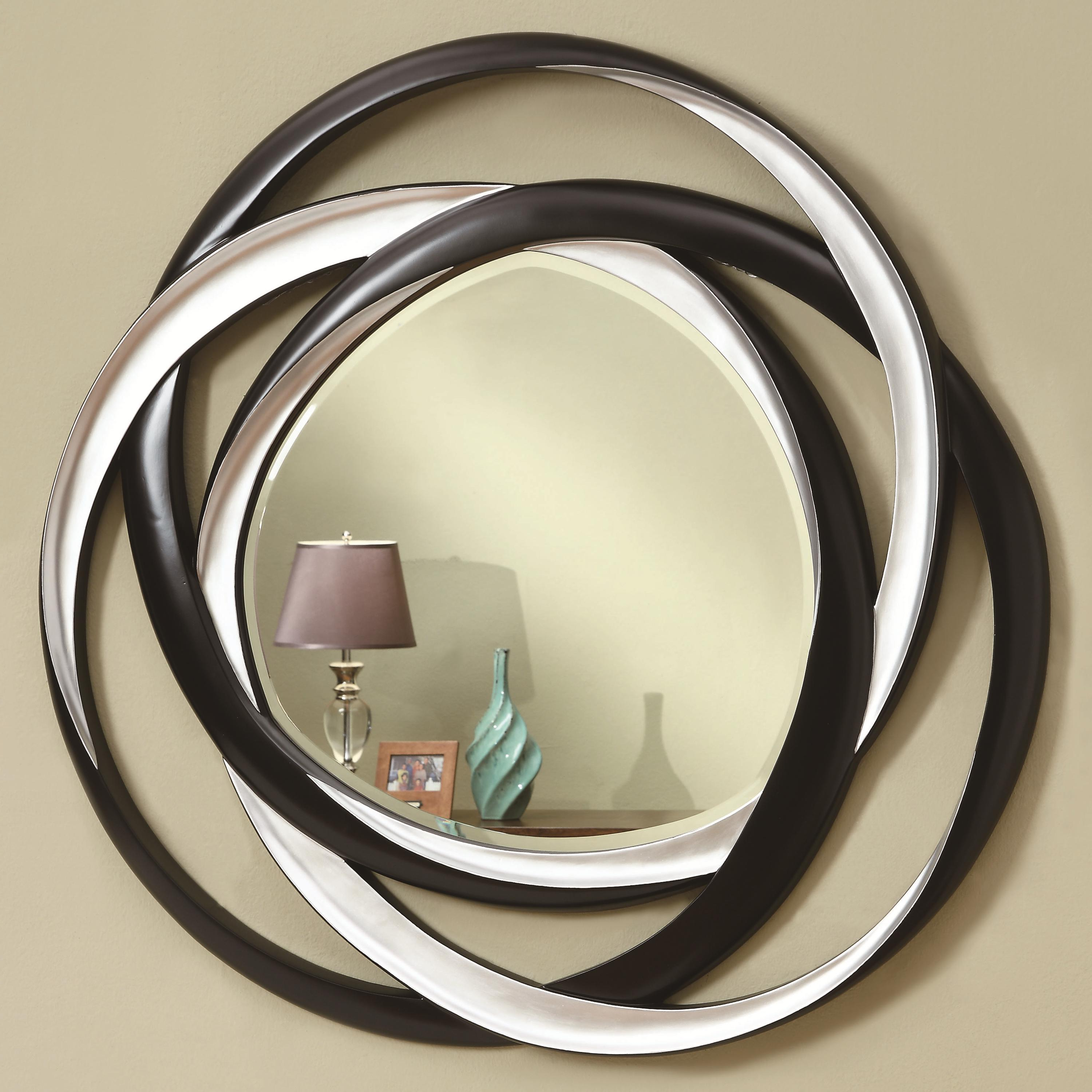 Popular Modern Black Wall Mirrors Inside Accent Mirrors Two Tone Contemporary Mirrorcoaster At Dunk & Bright Furniture (View 19 of 20)