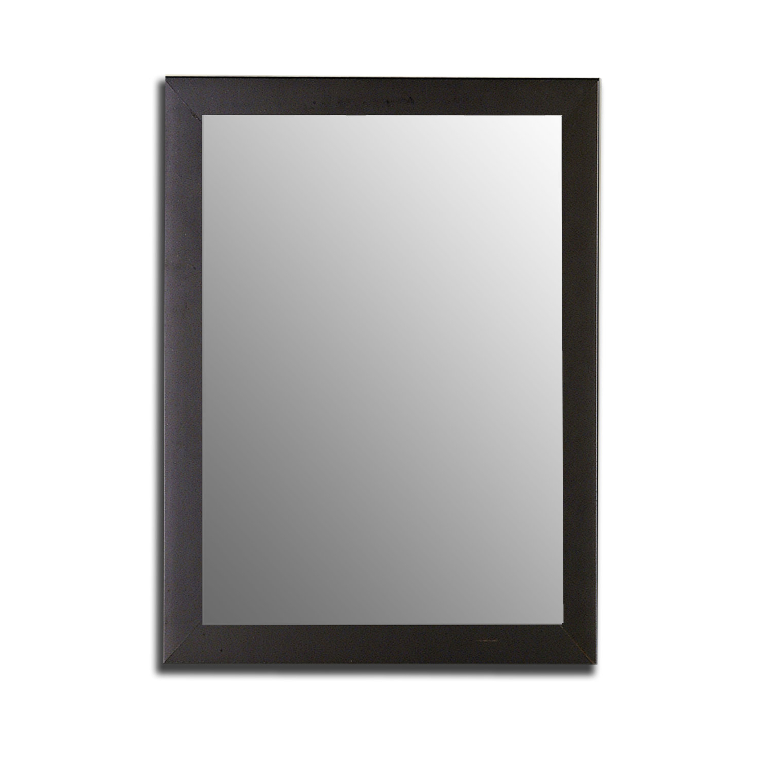 Popular Modern Full Length Wall Mirrors Within Broome Satin Black Traditional Full Length Wall Mirror (View 12 of 20)