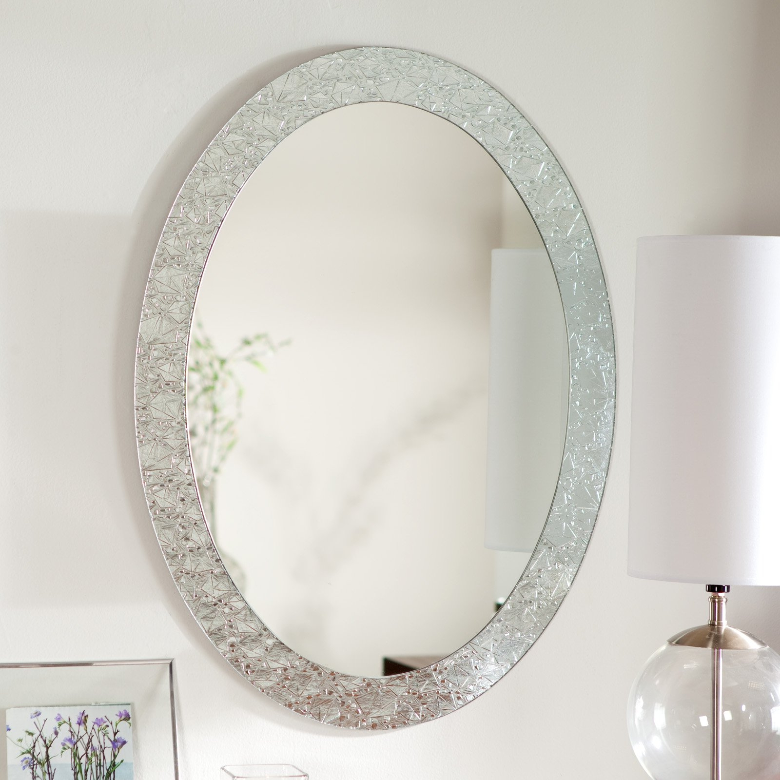 Popular Oval Shaped Bathroom Mirrors • Bathroom Mirrors And Wall Mirrors Inside Oval Shaped Wall Mirrors (View 14 of 20)