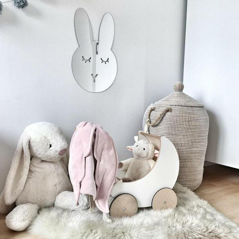 Popular Rabbit Acrylic Mirror Safe Shatterproof Wall Mirror For Baby Kids Bedroom  Decor (Gallery 11 of 20)