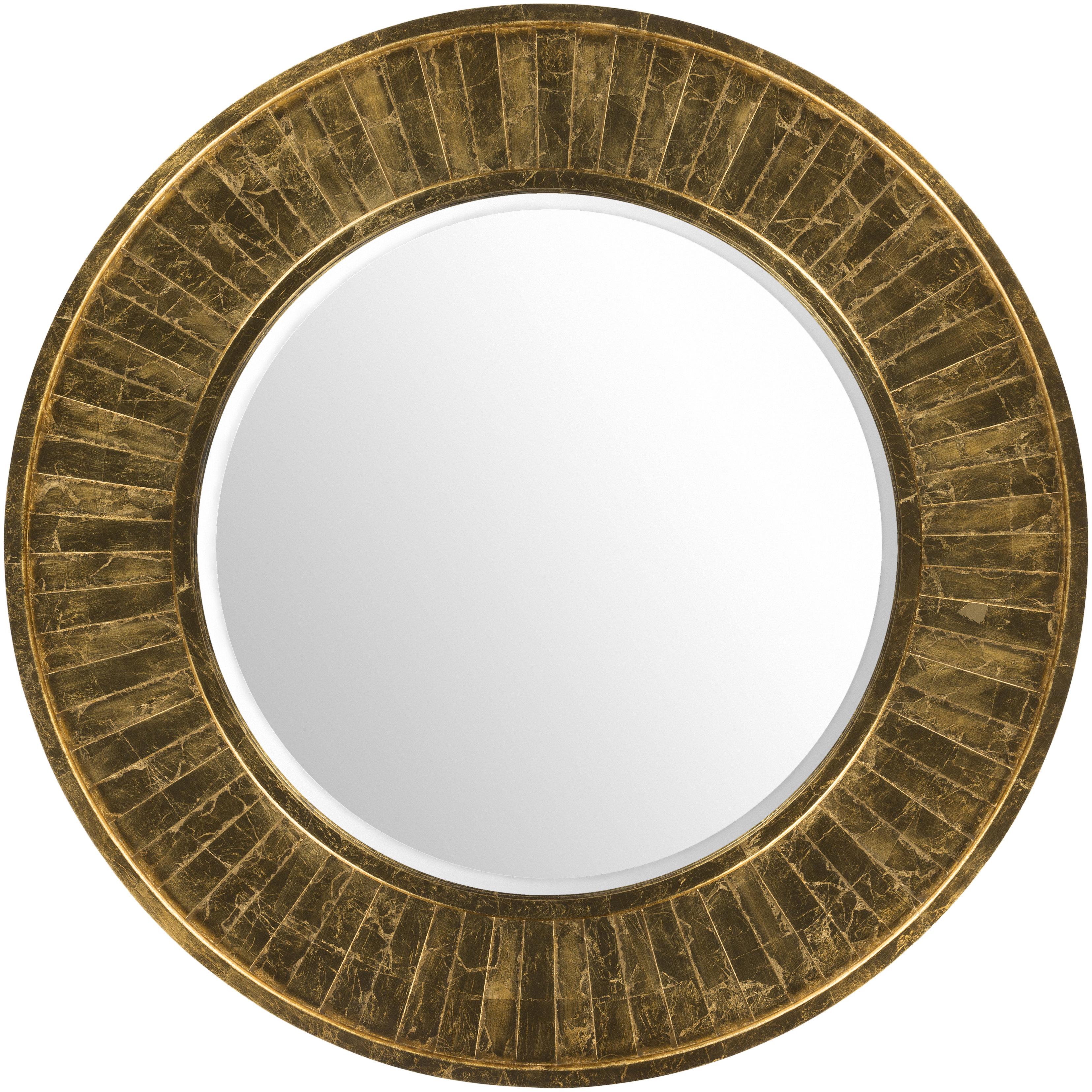 Popular Round Beveled Wall Mirrors Pertaining To Round Beveled Accent Wall Mirror (View 13 of 20)