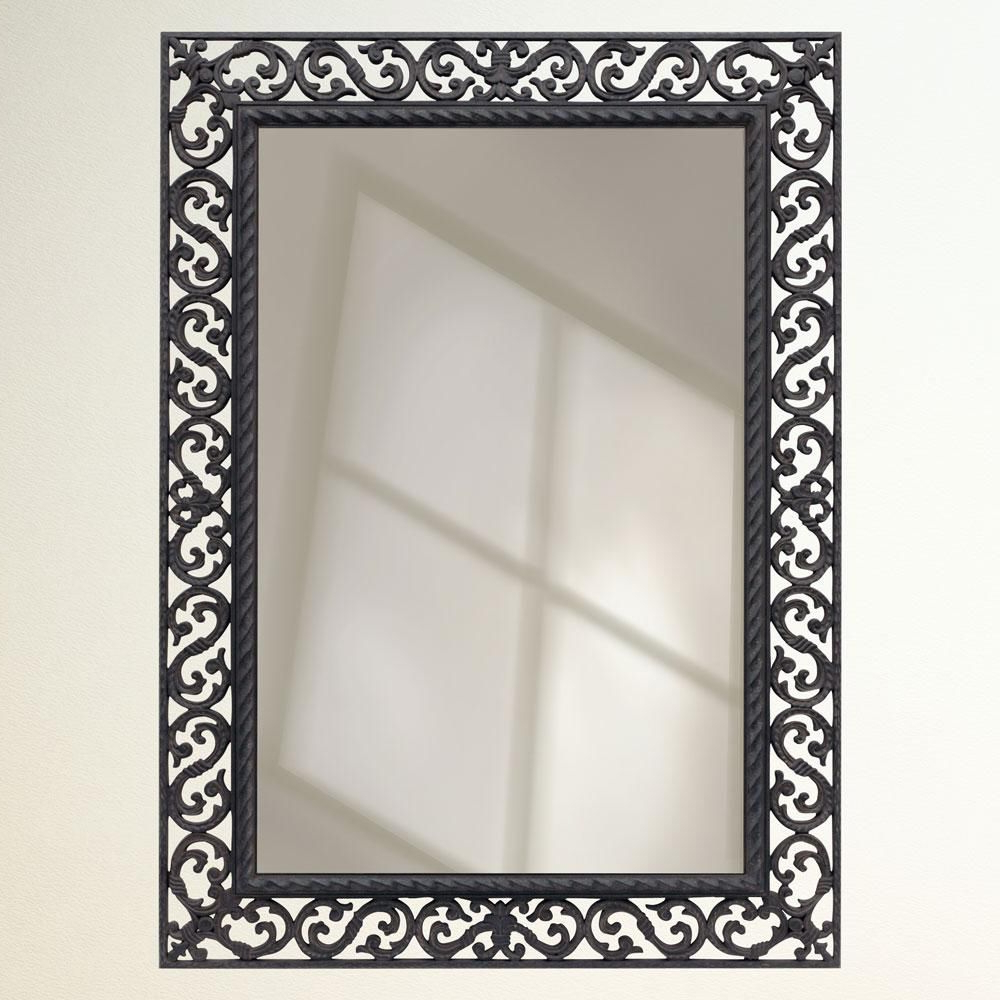 Popular Rustic Wrought Iron – Framed Mirror (View 4 of 20)