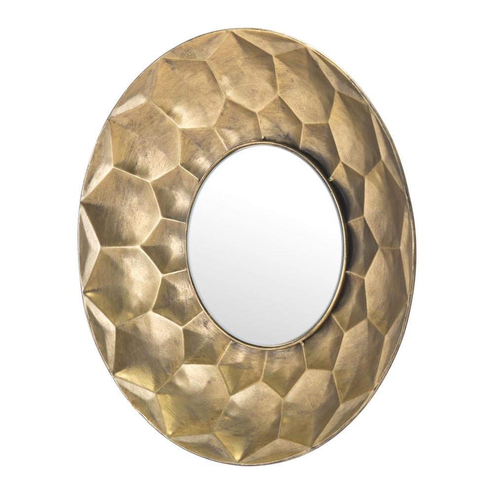 Popular Sei Gold Round Wall Mirror Regarding Small Gold Wall Mirrors (View 11 of 20)