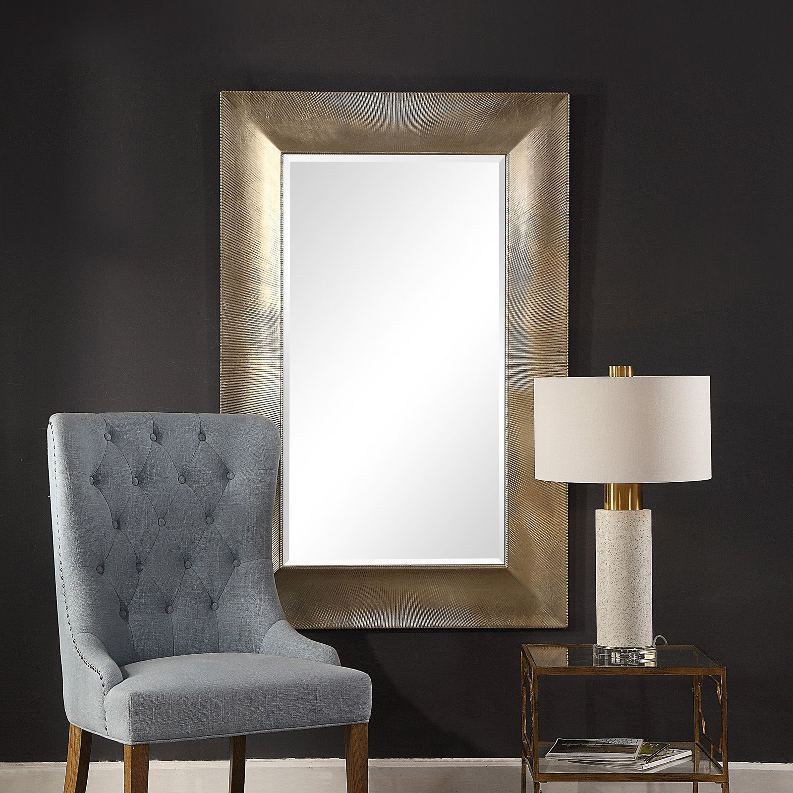 Popular Uttermost Valenton Large Wall Mirror – 39W X 60H In (View 13 of 20)