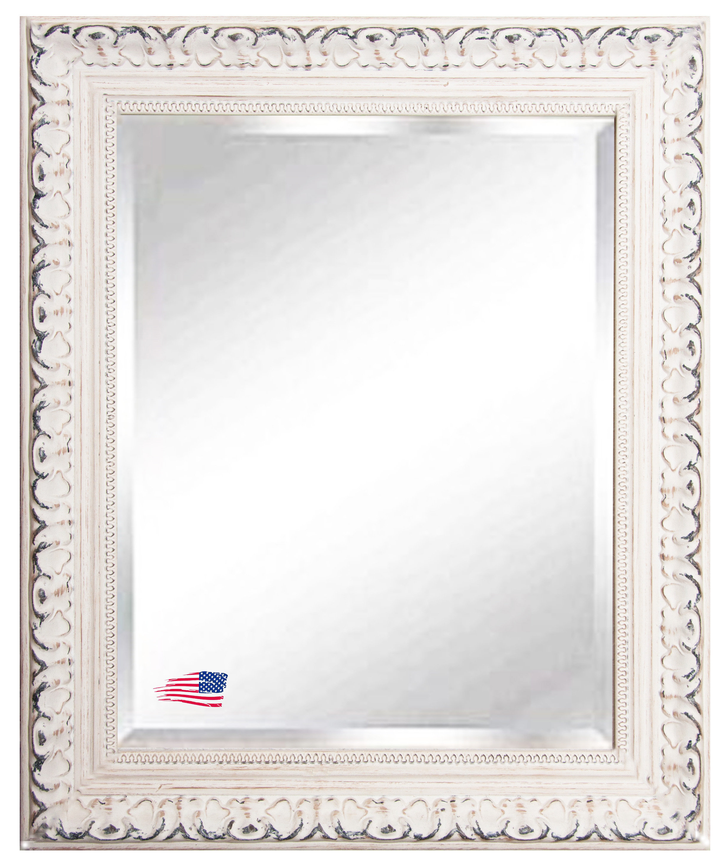 Popular Victorian Wall Mirrors In Arnett French Victorian Traditional Beveled Venetian Distressed Wall Mirror (View 16 of 20)