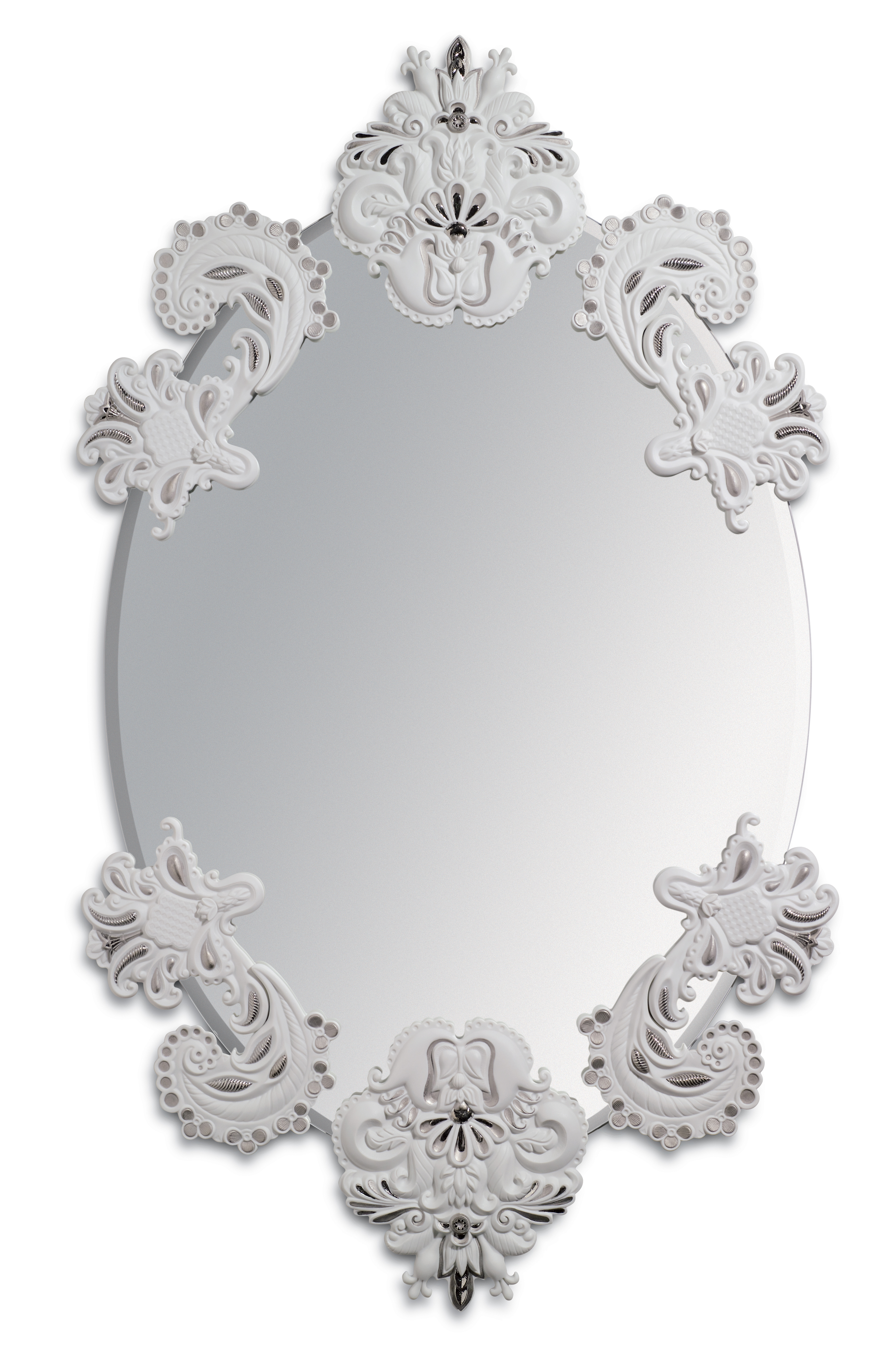 Popular Wall Mirrors Without Frame With Oval Wall Mirror Without Frame. Silver Lustre (View 10 of 20)