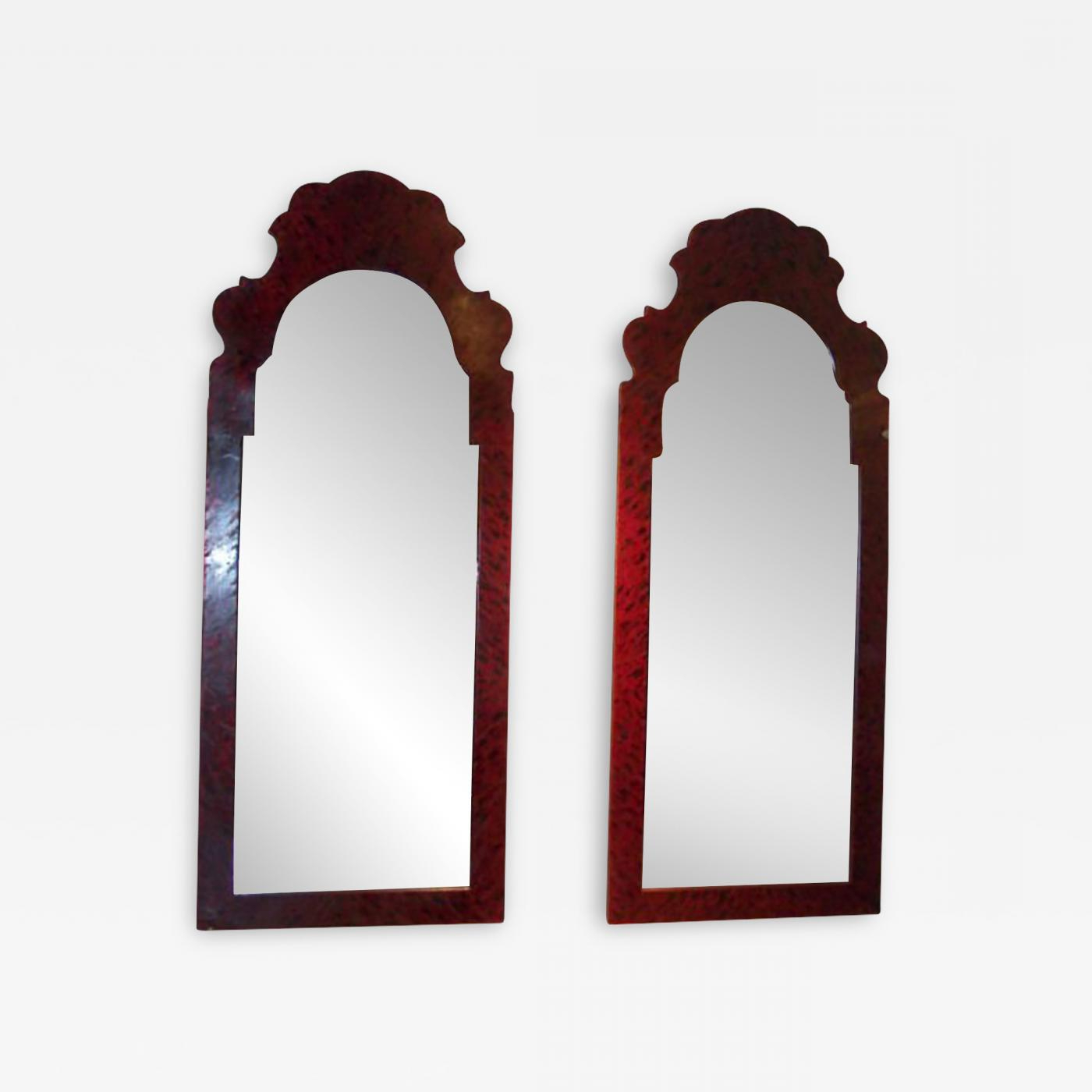 Popular Whimsical Wall Mirrors In Whimsical Pair Of Faux Tortoise Tole Mirrors (View 11 of 20)