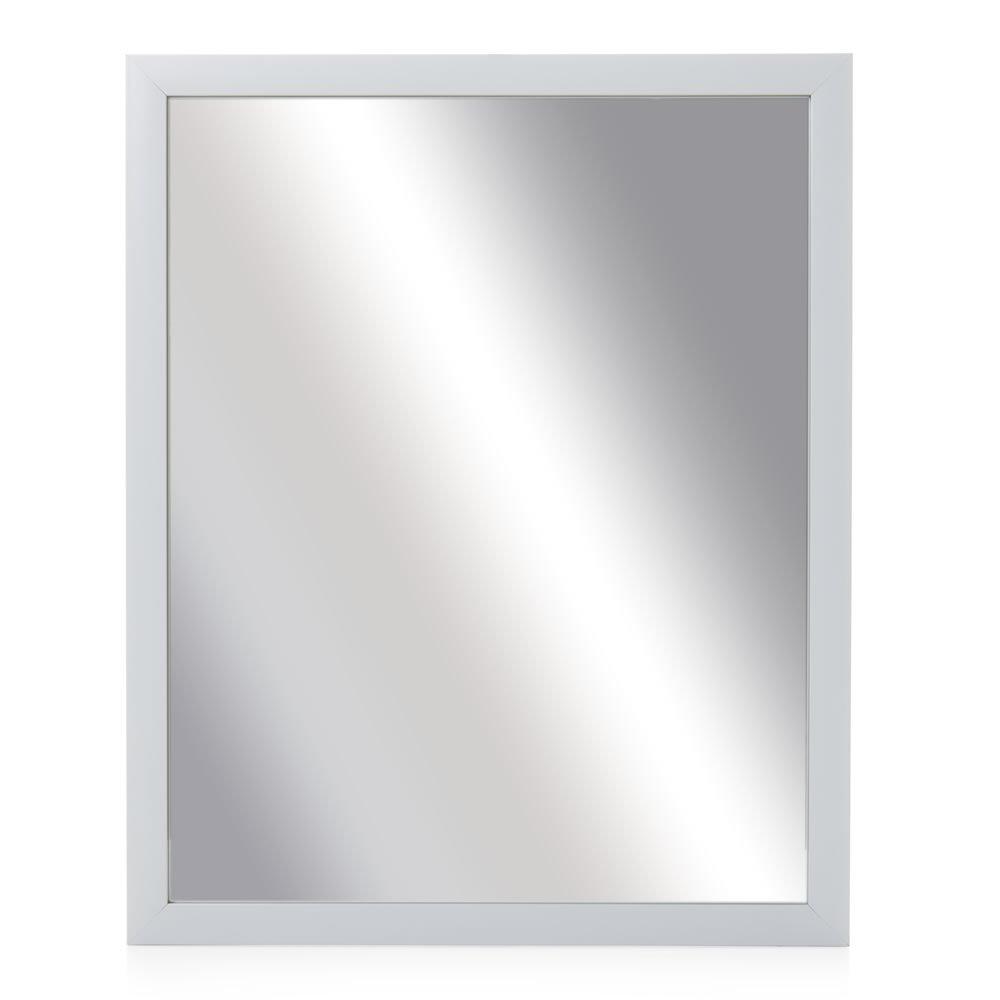 Popular Wilko 52 X 41cm White Frame Wall Mirror Intended For White Frame Wall Mirrors (View 5 of 20)