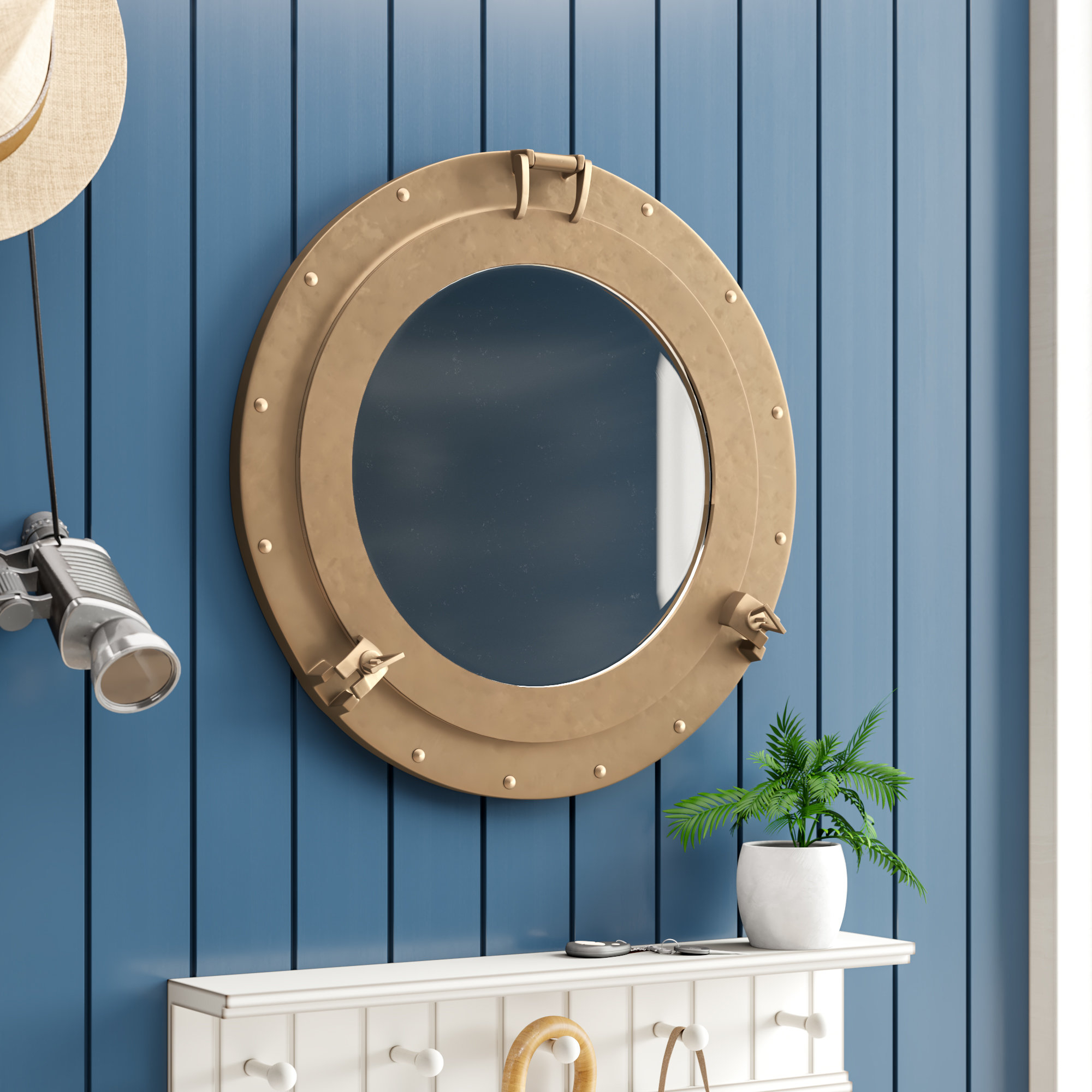 Porthole Wall Mirror Within Well Liked Porthole Wall Mirrors (View 4 of 20)