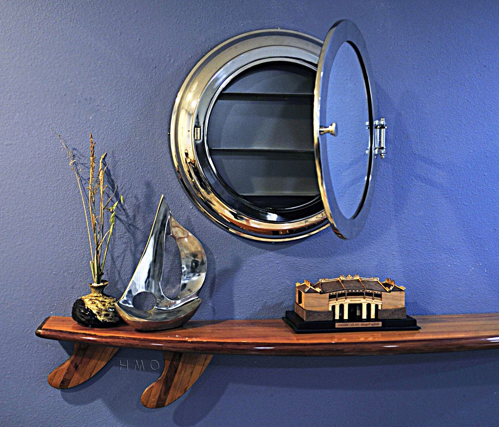 Porthole Wall Mirrors With Well Known Shallow Depth Medicine Cabinet Surface Wall Mounted Porthole (View 20 of 20)