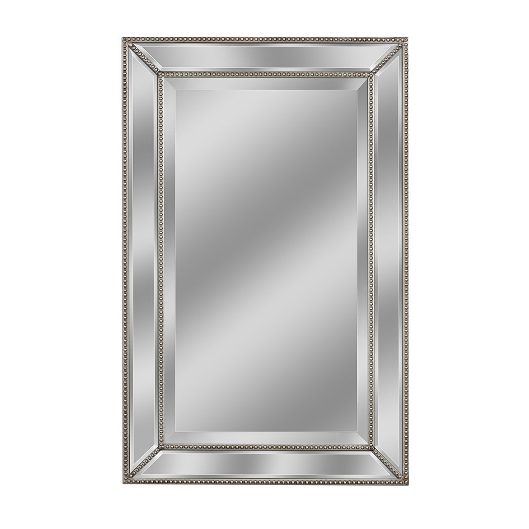 Preferred 24 X 36 Wall Mirrors Within Headwest Metro Beaded Wall Mirror – Champagne/silver – 24 X  (View 17 of 20)