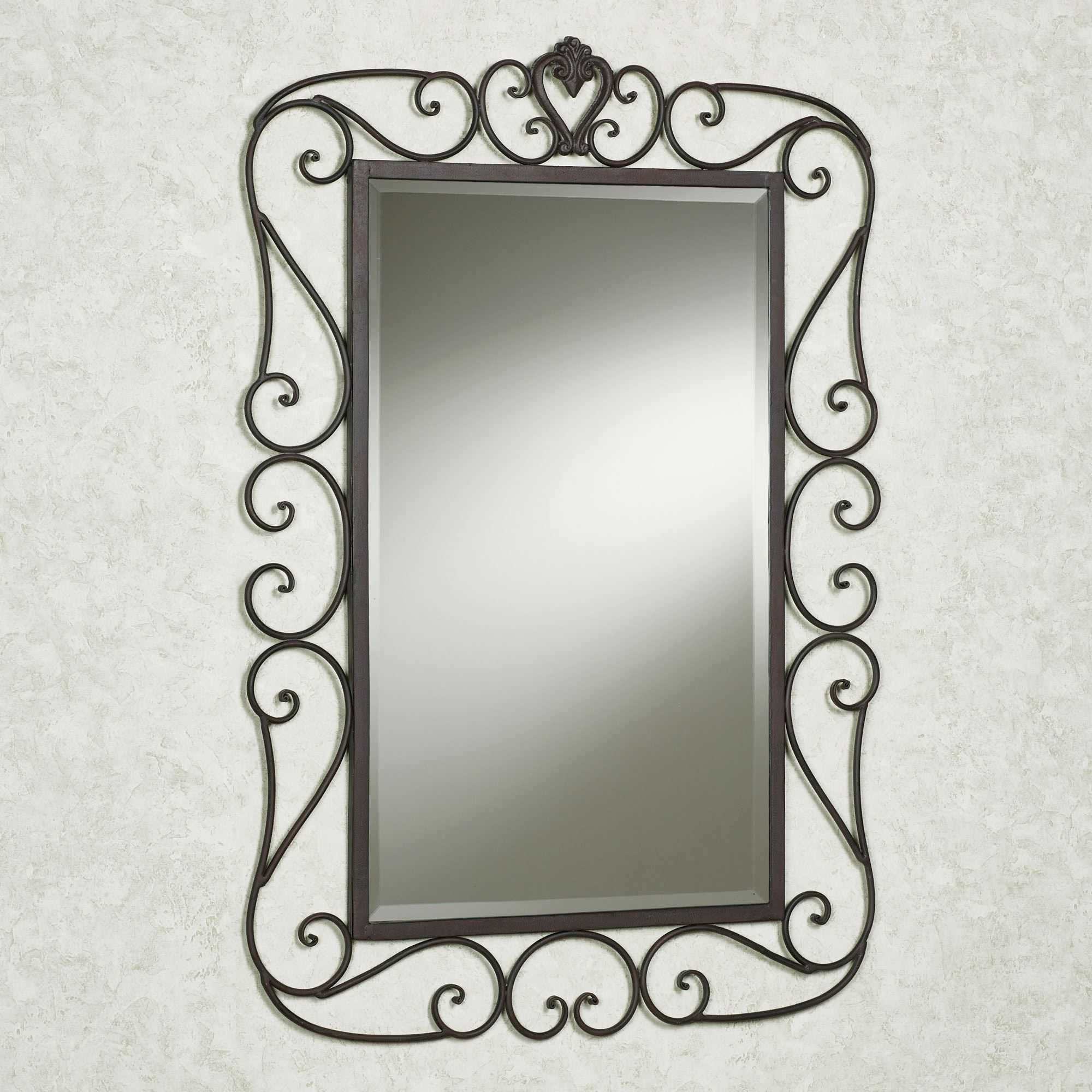 Preferred 56 Wrought Iron Mirror, Large Industrial Heavy Wrought Iron Intended For Wrought Iron Wall Mirrors (View 2 of 20)