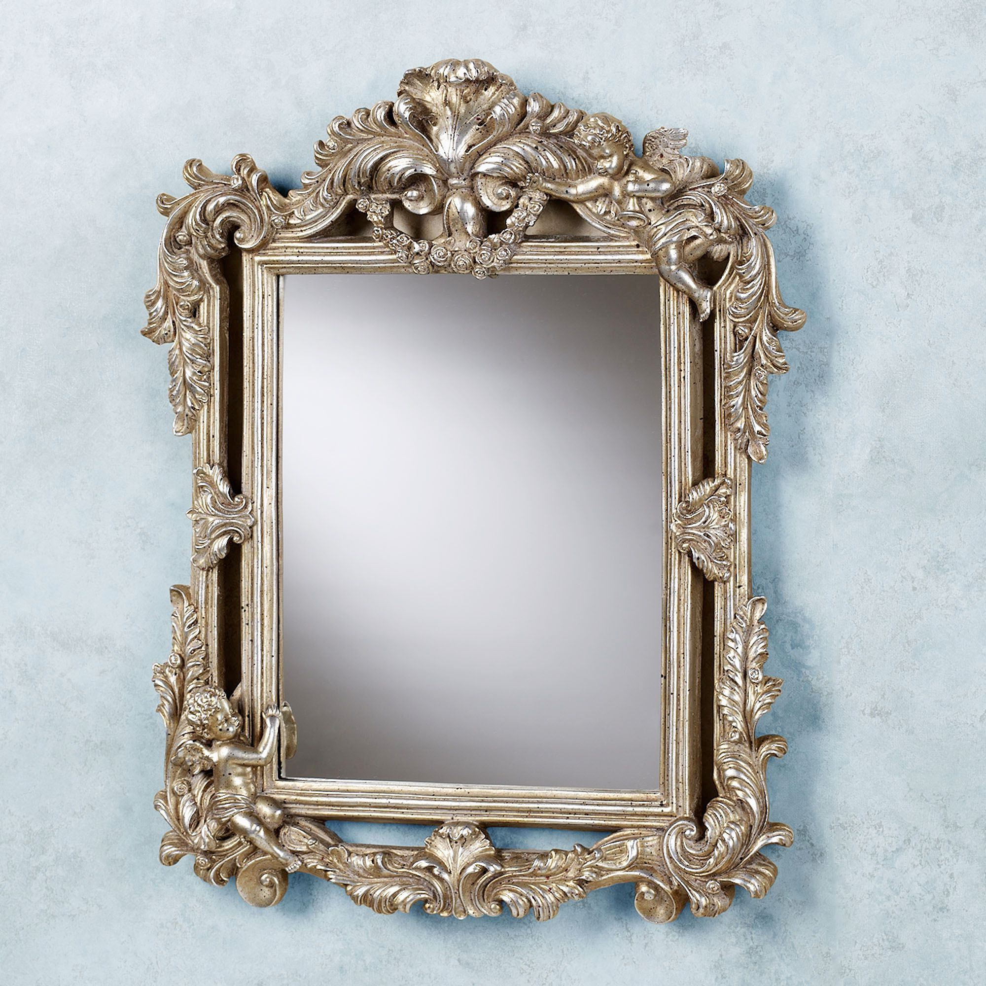 Preferred Accent Mirrors Regarding Cherub Double Framed Accent Wall Mirror (View 7 of 20)