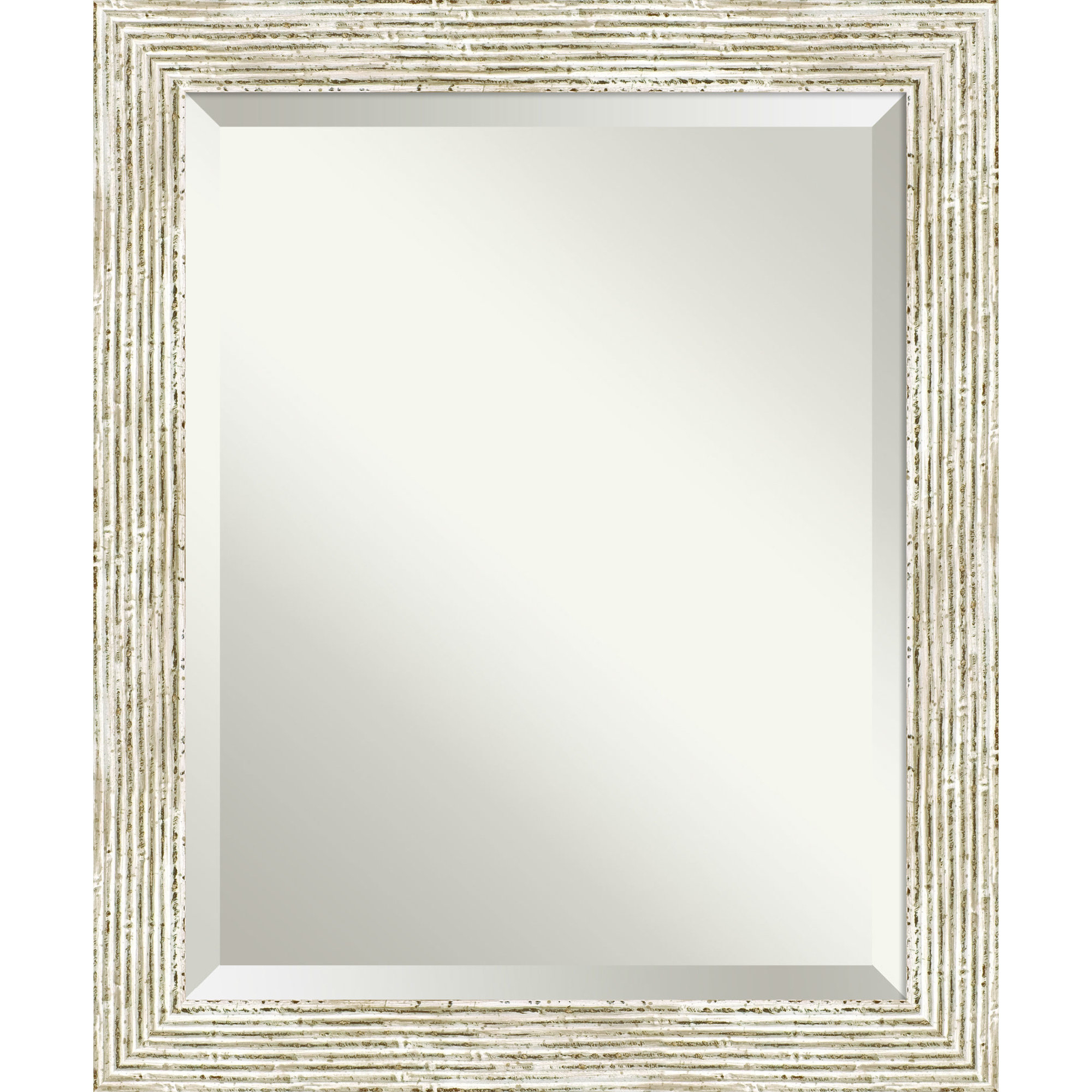 Preferred Accent Rectangle White Wood Framed Medium Wall Mirror Within Epinal Shabby Elegance Wall Mirrors (View 10 of 20)