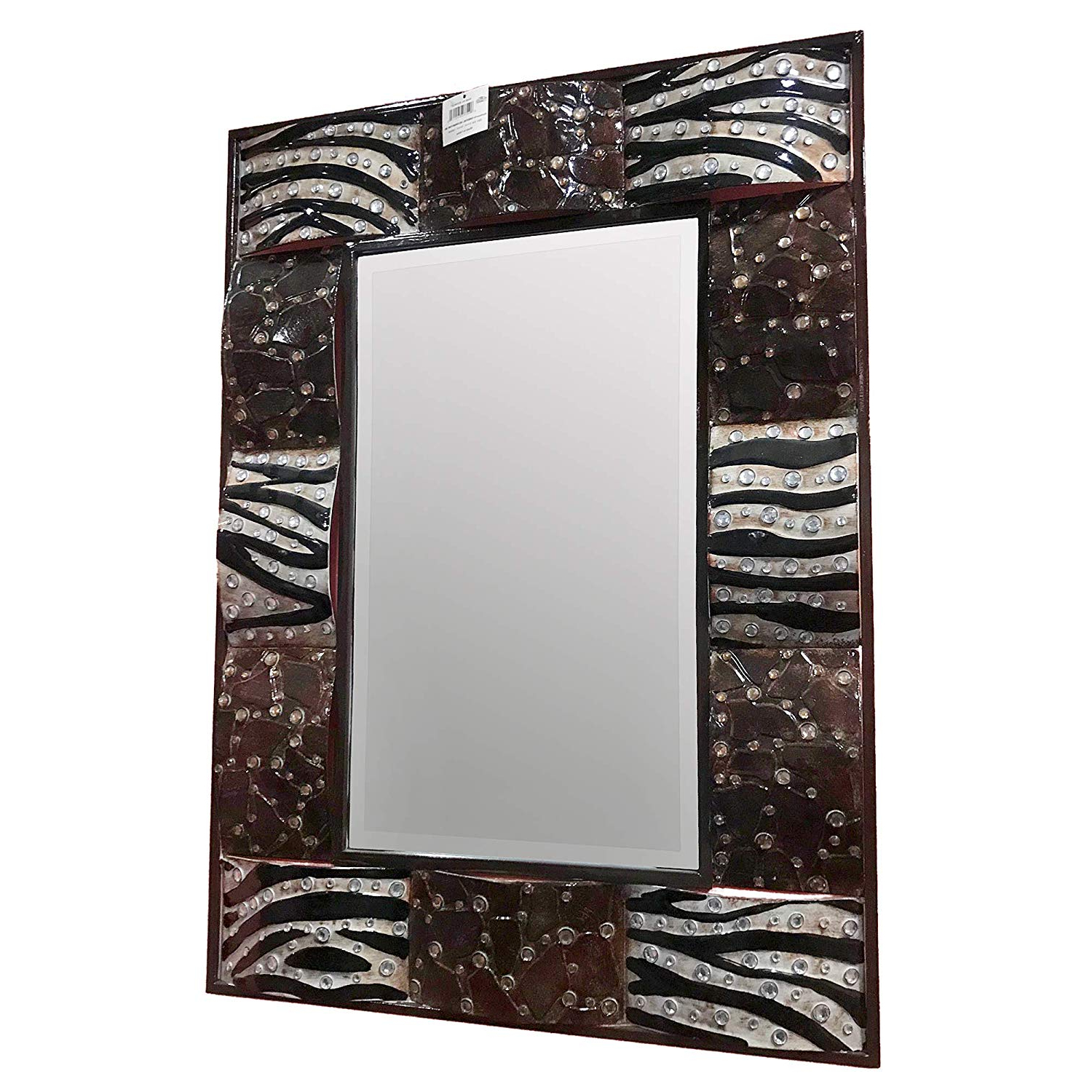 Preferred Amazon: Aspire Anima Print Metal Wall Mirror 36 Intended For Metal Wall Mirrors (View 15 of 20)