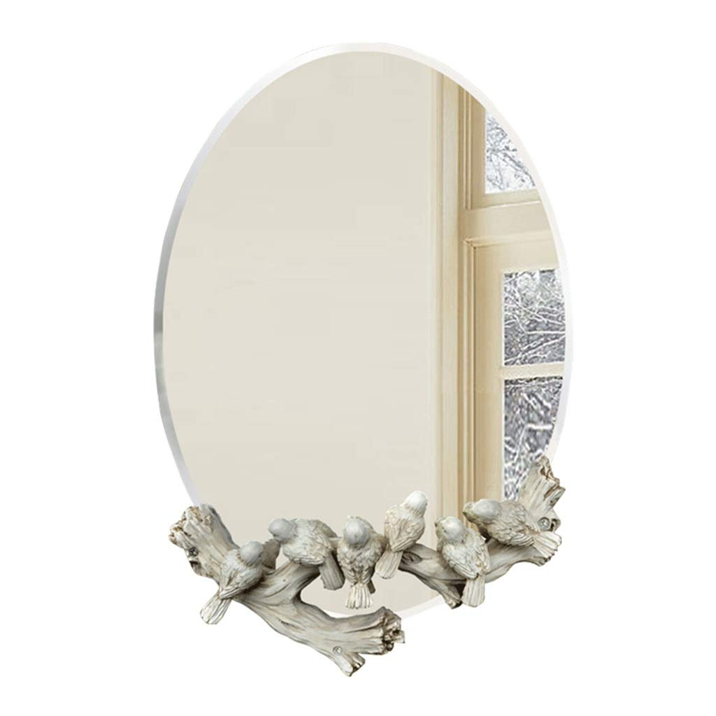 Preferred Amazon: Bathroom Mirror Bird Carved Wall Hanging Waterproof With Childrens Wall Mirrors (View 11 of 20)