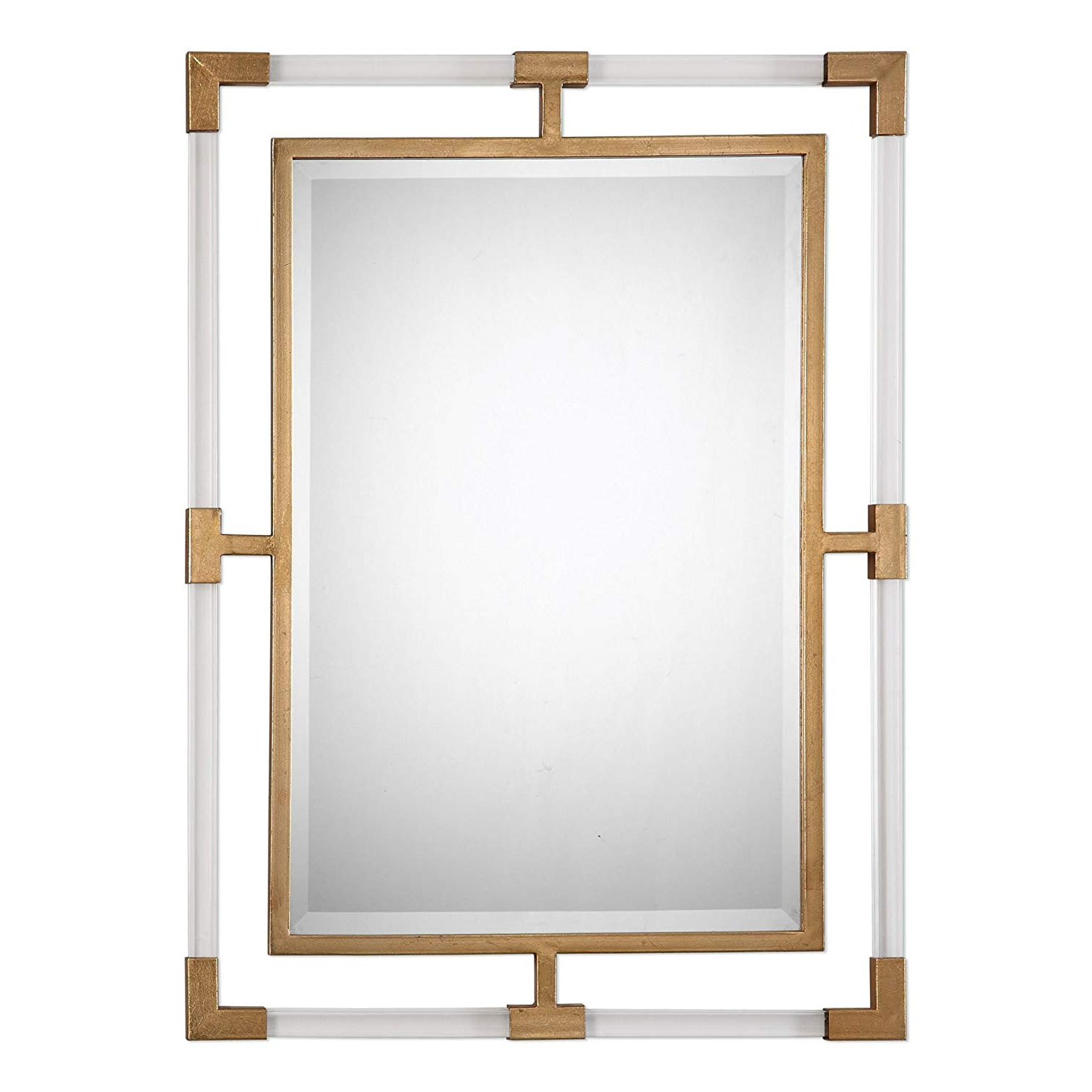 Preferred Amazon: Modern Gold Acrylic Tube Wall Mirror (Gallery 17 of 20)
