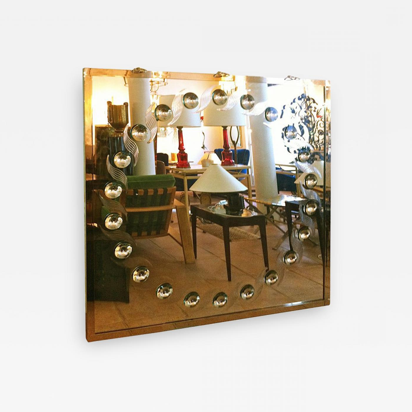 Preferred Andre Hayat – André Hayat Spectacular Large Bubble Mirror Pertaining To Dandre Wall Mirrors (View 17 of 20)
