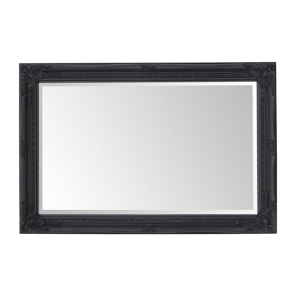 Preferred Antique Matt Black Framed Wall Mirror 60cm X 90cm Regarding Black Framed Wall Mirrors (View 12 of 20)
