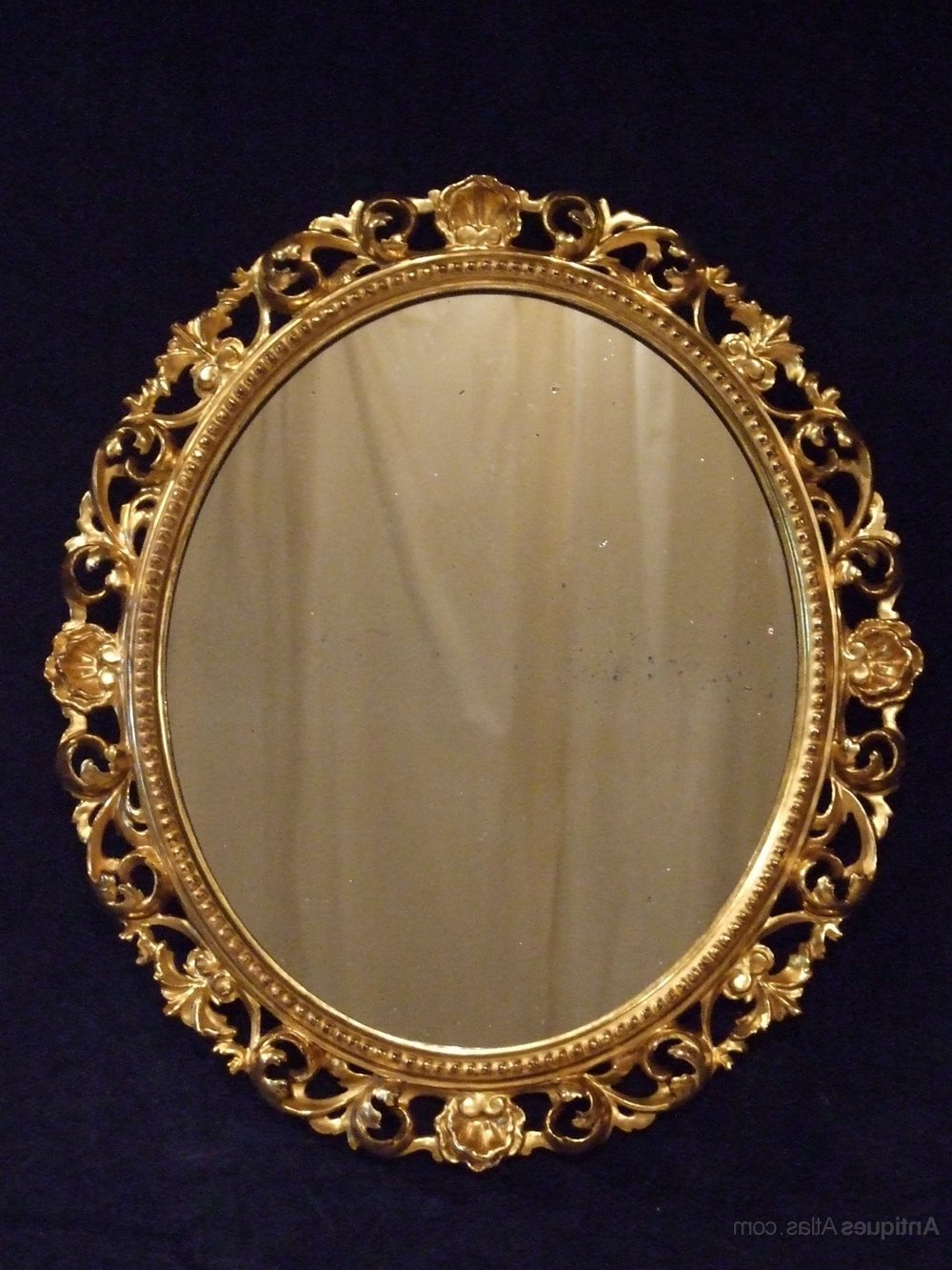 Preferred Antique Oval Florentine Gilt Oval Wall Mirror 1870 Within Antique Oval Wall Mirrors (View 15 of 20)
