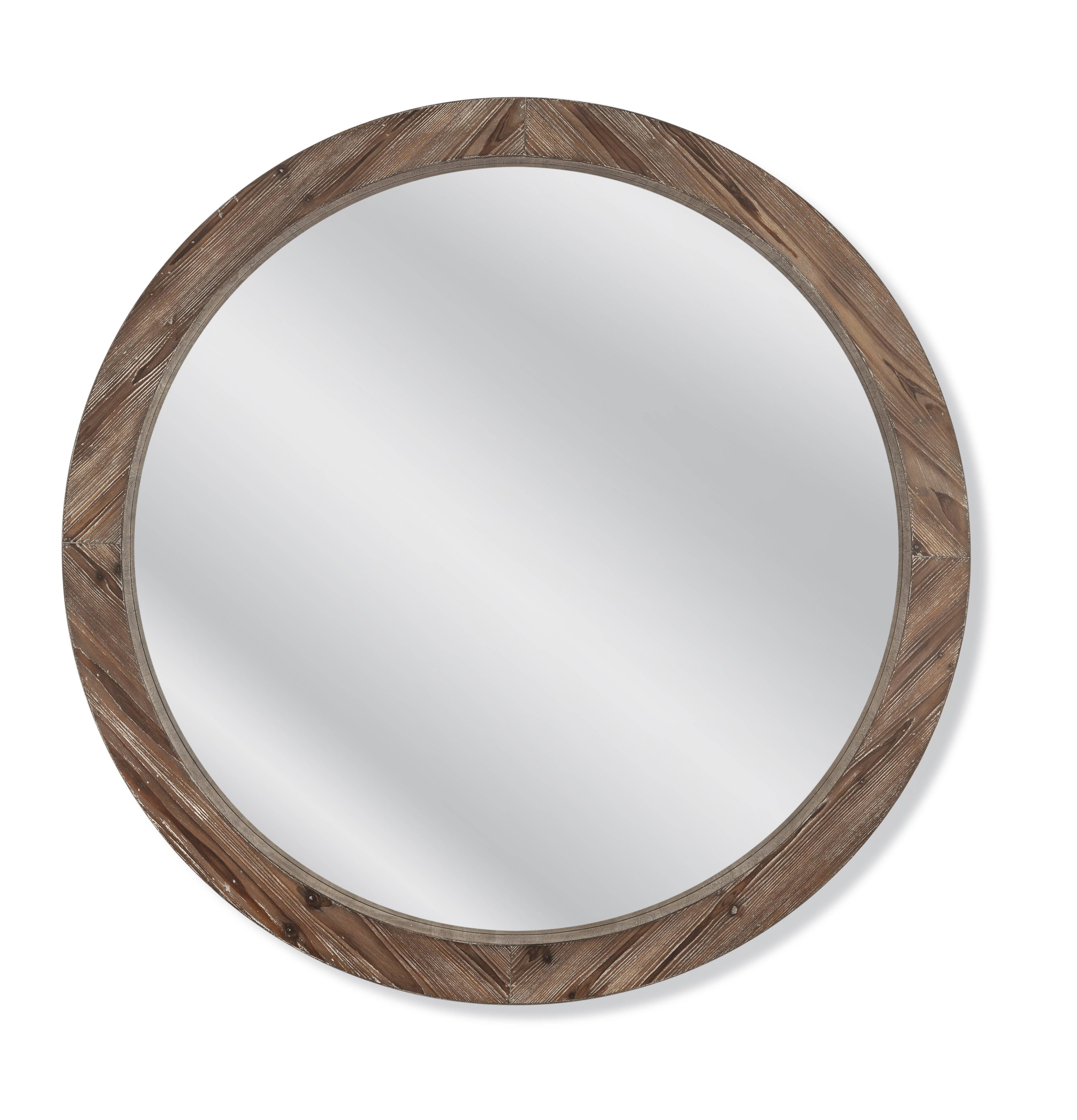 Preferred Bassett Mirror Jacques Natural Wood Round Wall Mirror In Round Wood Wall Mirrors (View 16 of 20)
