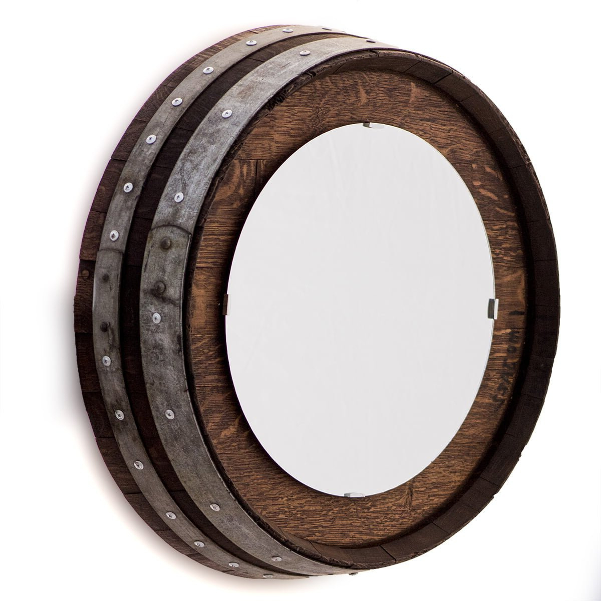 Preferred Bem Decorative Wall Mirrors Inside Barrel End Wall Mirror With Staves (View 4 of 20)