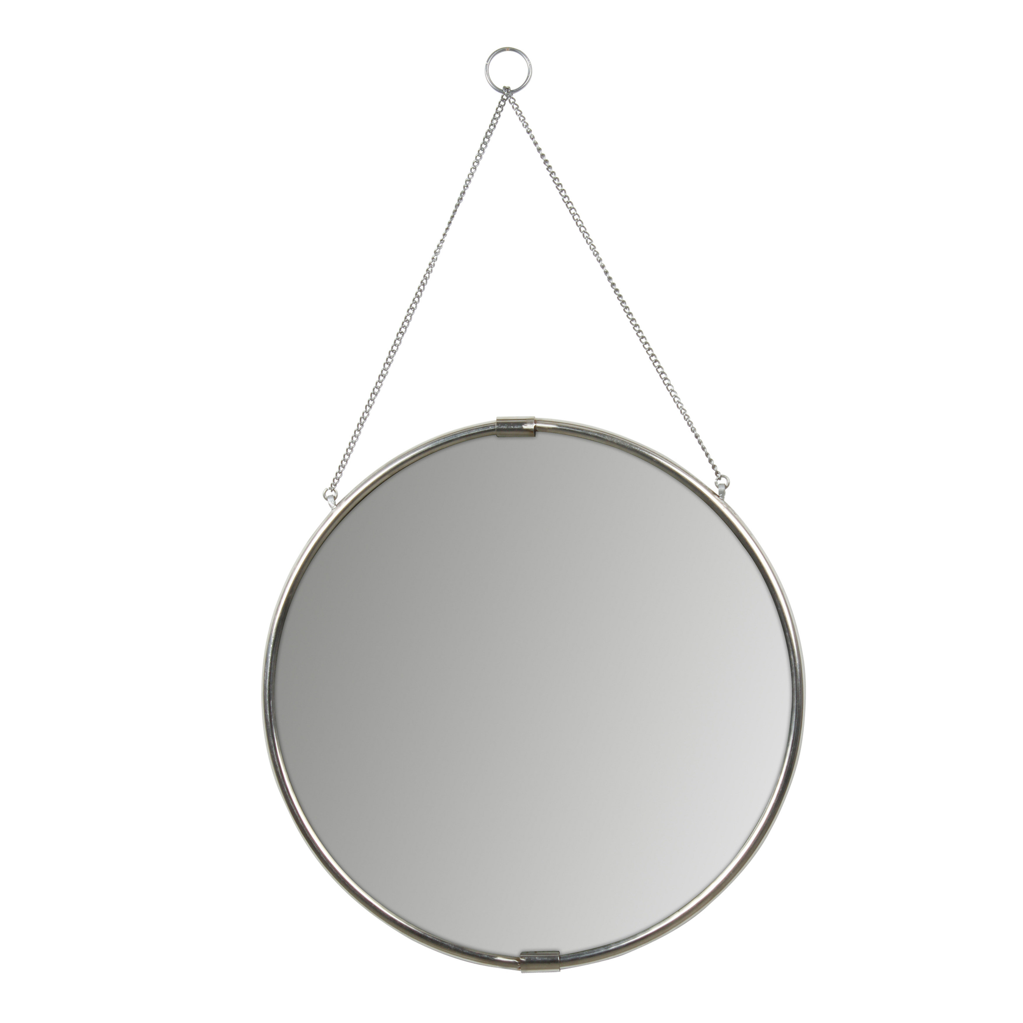 Preferred Brea Decorative Round Hanging Modern & Contemporary Wall Mirror Pertaining To Matthias Round Accent Mirrors (View 8 of 20)