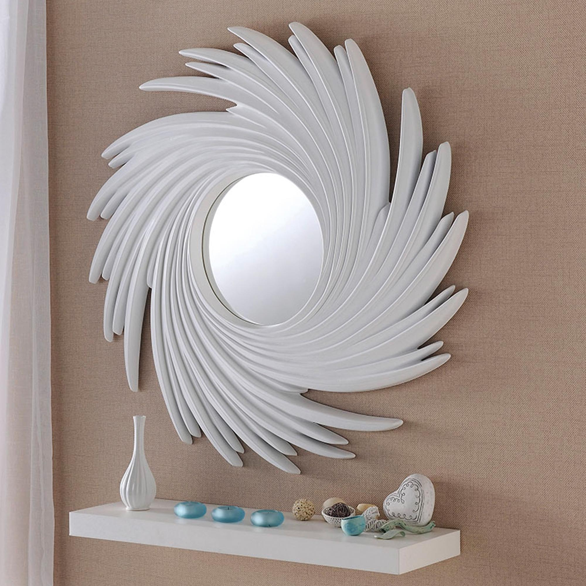 Preferred Contemporary White Swirl Wall Mirror Pertaining To Swirl Wall Mirrors (Gallery 10 of 20)