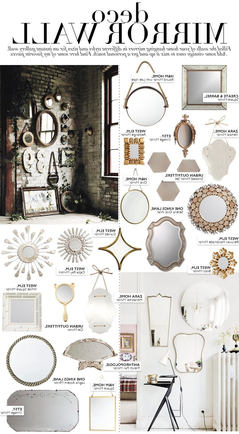 Preferred Deco: Mirror Wall (collage Vintage) (View 7 of 20)