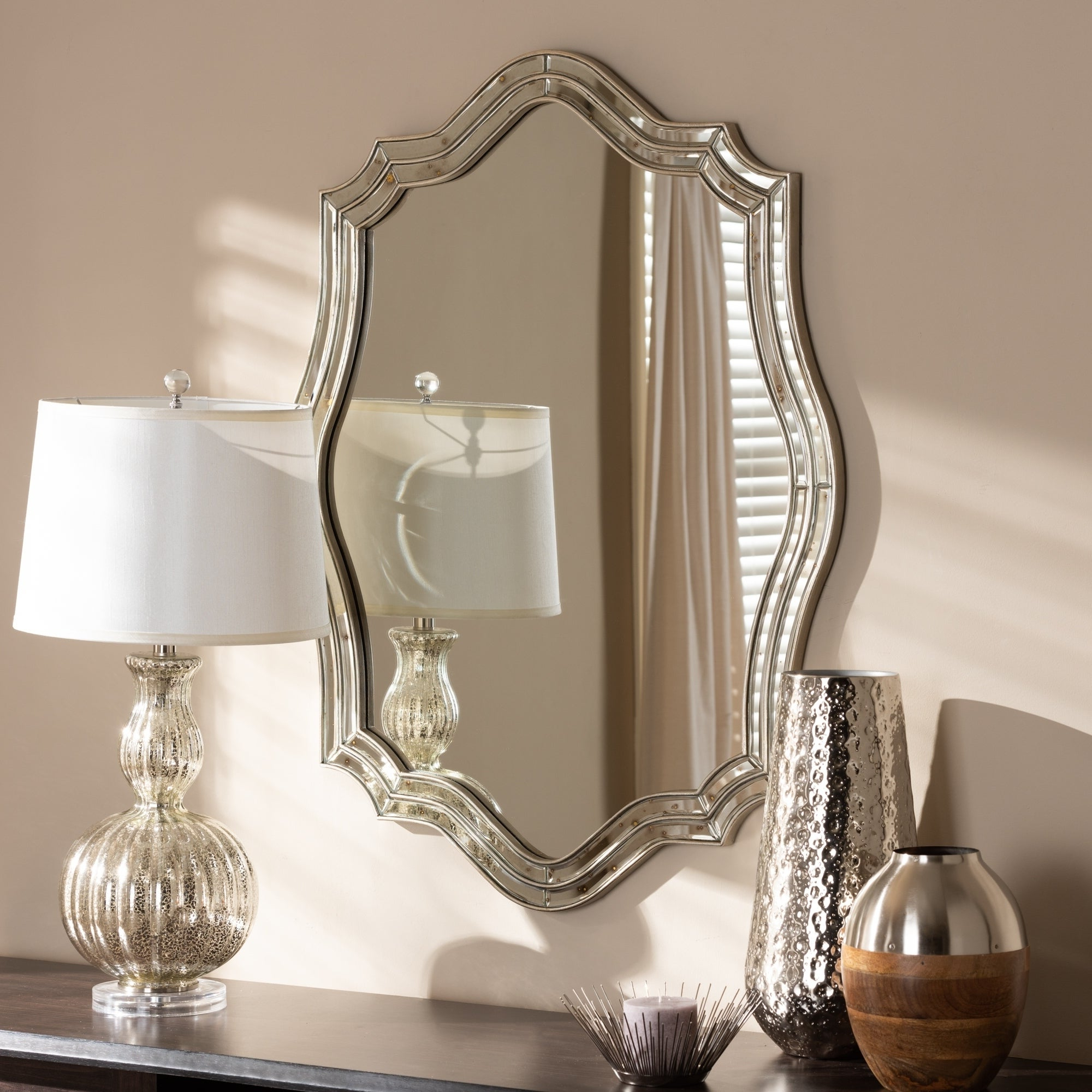 Preferred Deco Wall Mirrors Intended For Art Deco Antique Silver Wall Mirrorbaxton Studio – Antique Silver (View 17 of 20)