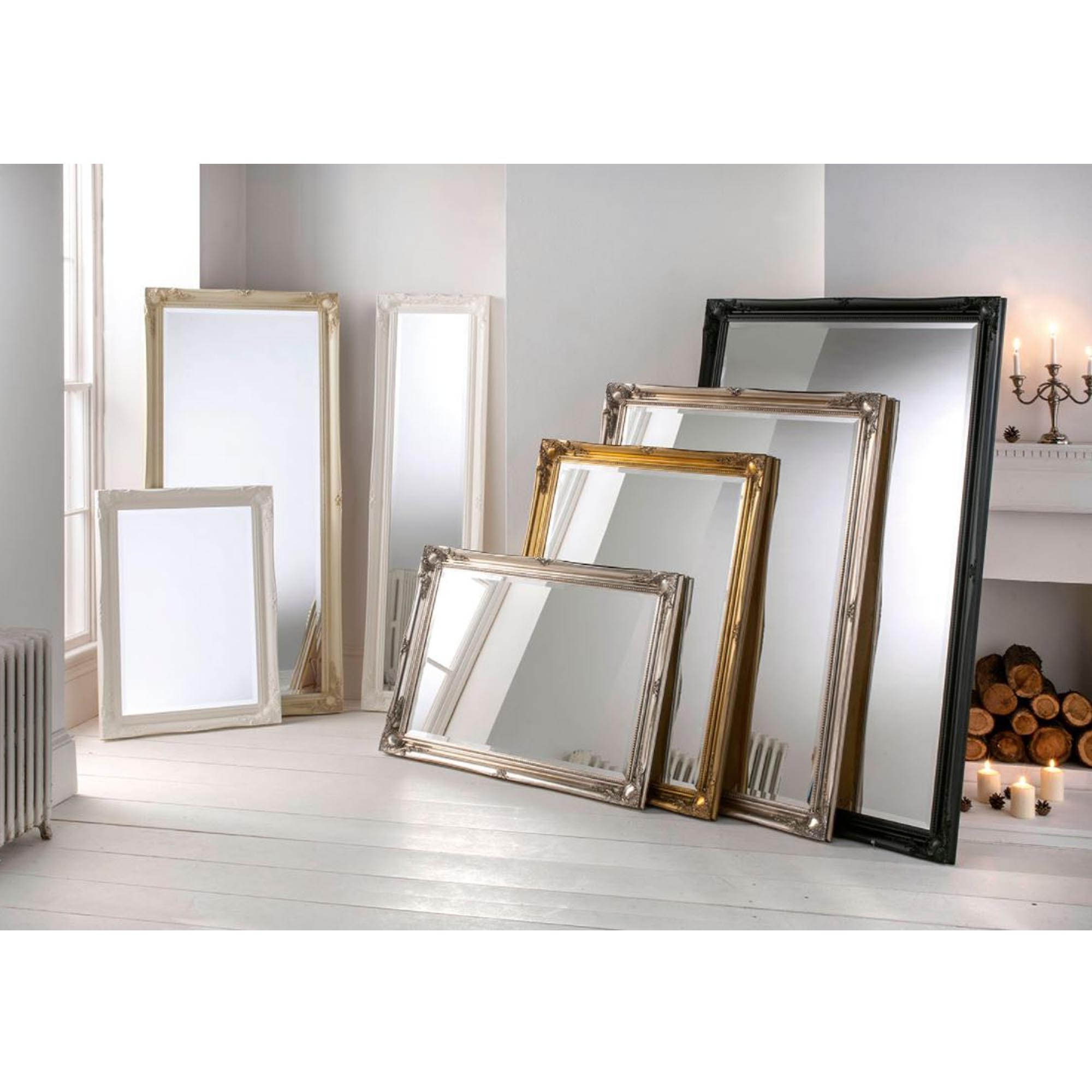 Preferred Decorative Black Wall Mirrors Throughout Decorative Ornate Antique French Style Black Wall Mirror (View 9 of 20)