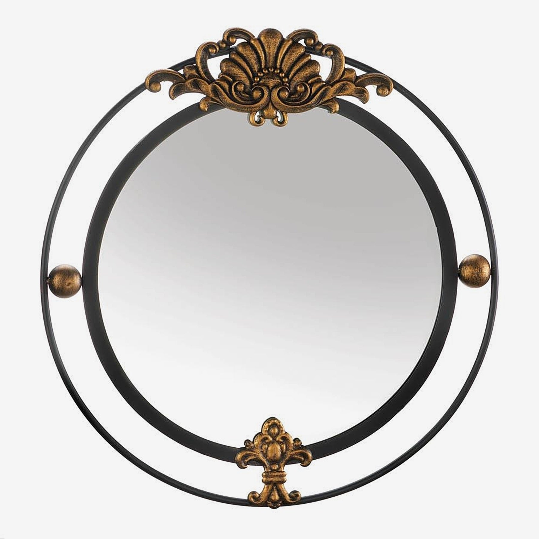 Preferred Decorative Round Wall Mirrors Within Garfield Decorative Round Wall Mirror – Black/gold (Gallery 18 of 20)