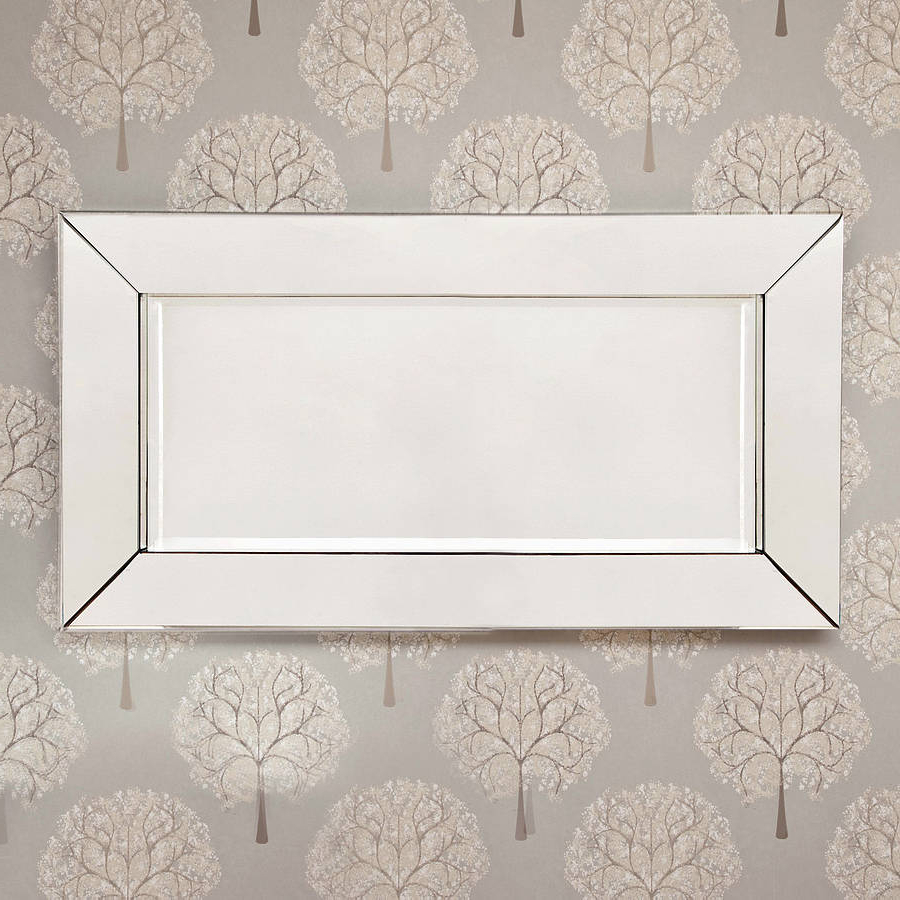 Preferred Deep Large All Glass Framed Wall Mirror Regarding Large Glass Bevelled Wall Mirrors (View 9 of 20)