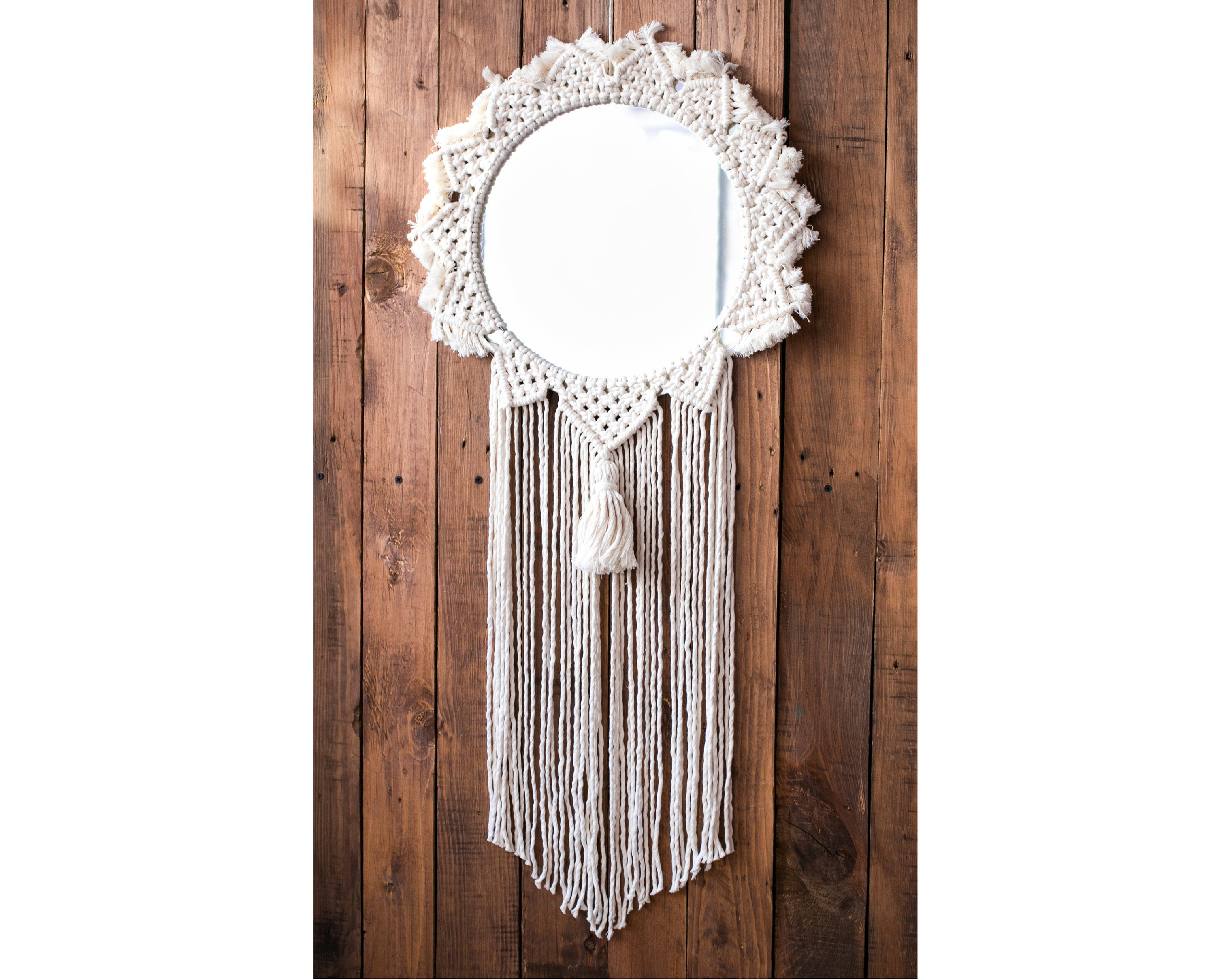 Preferred Ethnic Wall Mirrors Intended For Macrame Framed Wall Mirror, Large Decorative Mirror, Bohemian Round Mirror,  Ethnic Wall Decor, Large Macrame Mirror, Macrame Wall Hanging (View 16 of 20)