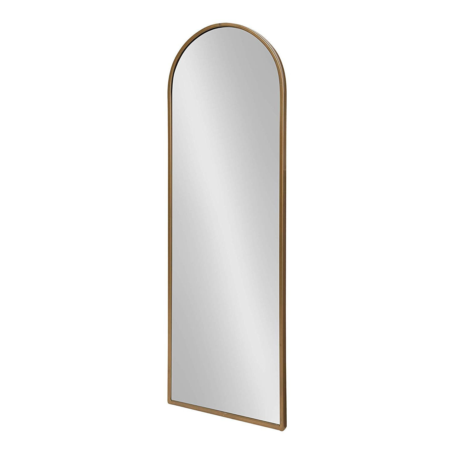 Preferred Framed Full Length Wall Mirrors Within Kate And Laurel Valenti Metal Frame Arch Full Length Wall Mirror, Gold, 16x (View 5 of 20)