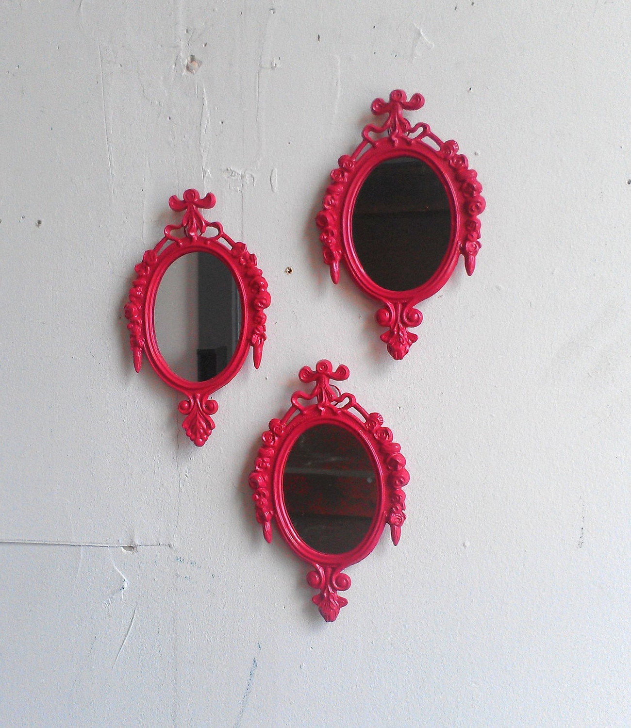 Preferred Girls Room Decor Mirror Set, Pink Nursery Wall Mirrors, Pink Baby Shower, Pink Wall Art, Colorful Decor Ideas, Boho Chic In Girls Pink Wall Mirrors (View 7 of 20)