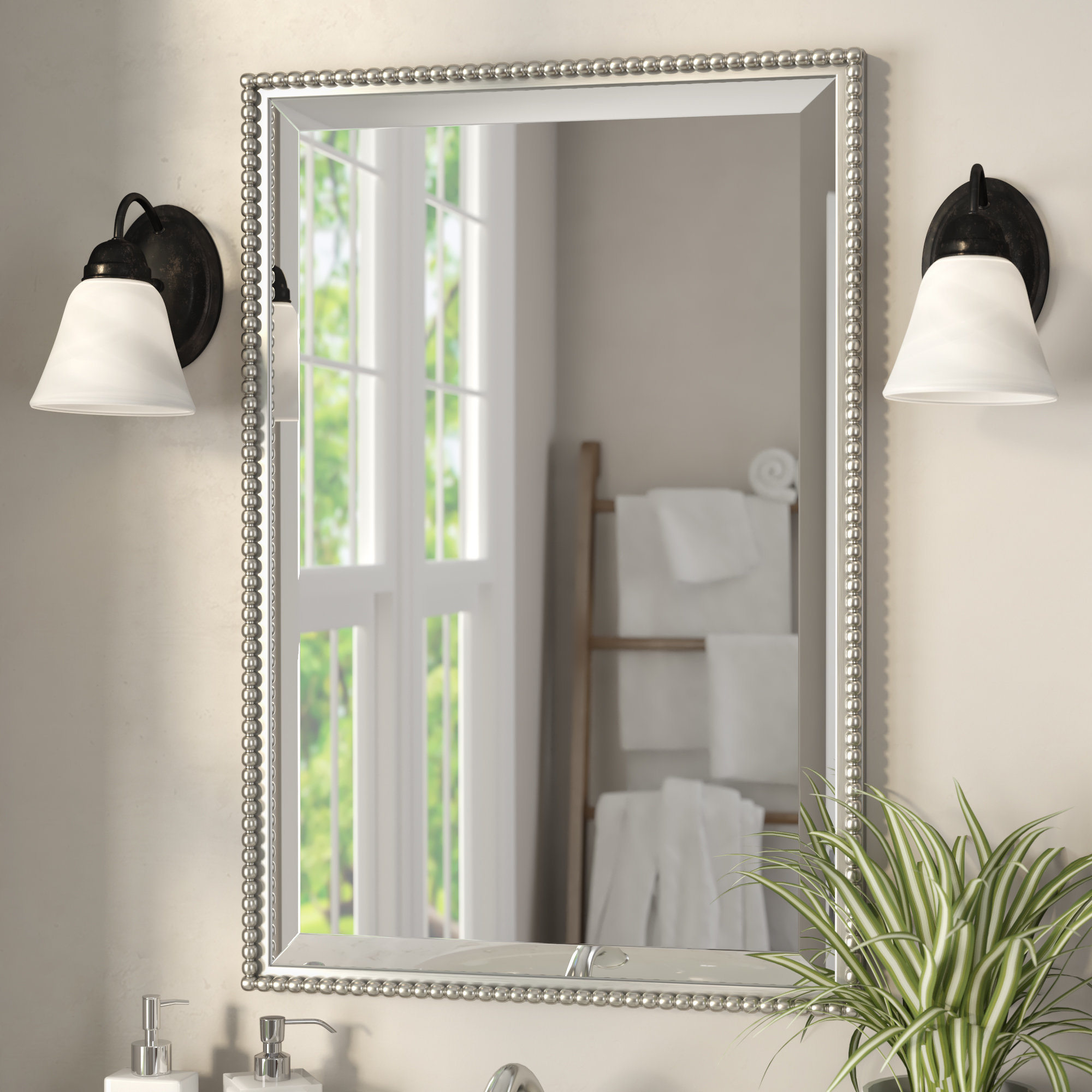 Preferred Glen View Wall Mirror Regarding Glen View Beaded Oval Traditional Accent Mirrors (View 16 of 20)