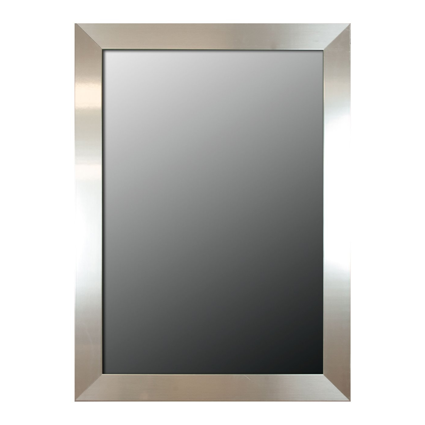 Preferred Hitchcock Butterfield 8067000 8067 2Nd Look Stainless Flat Framed Wall Mirror Within Flat Wall Mirrors (View 19 of 20)