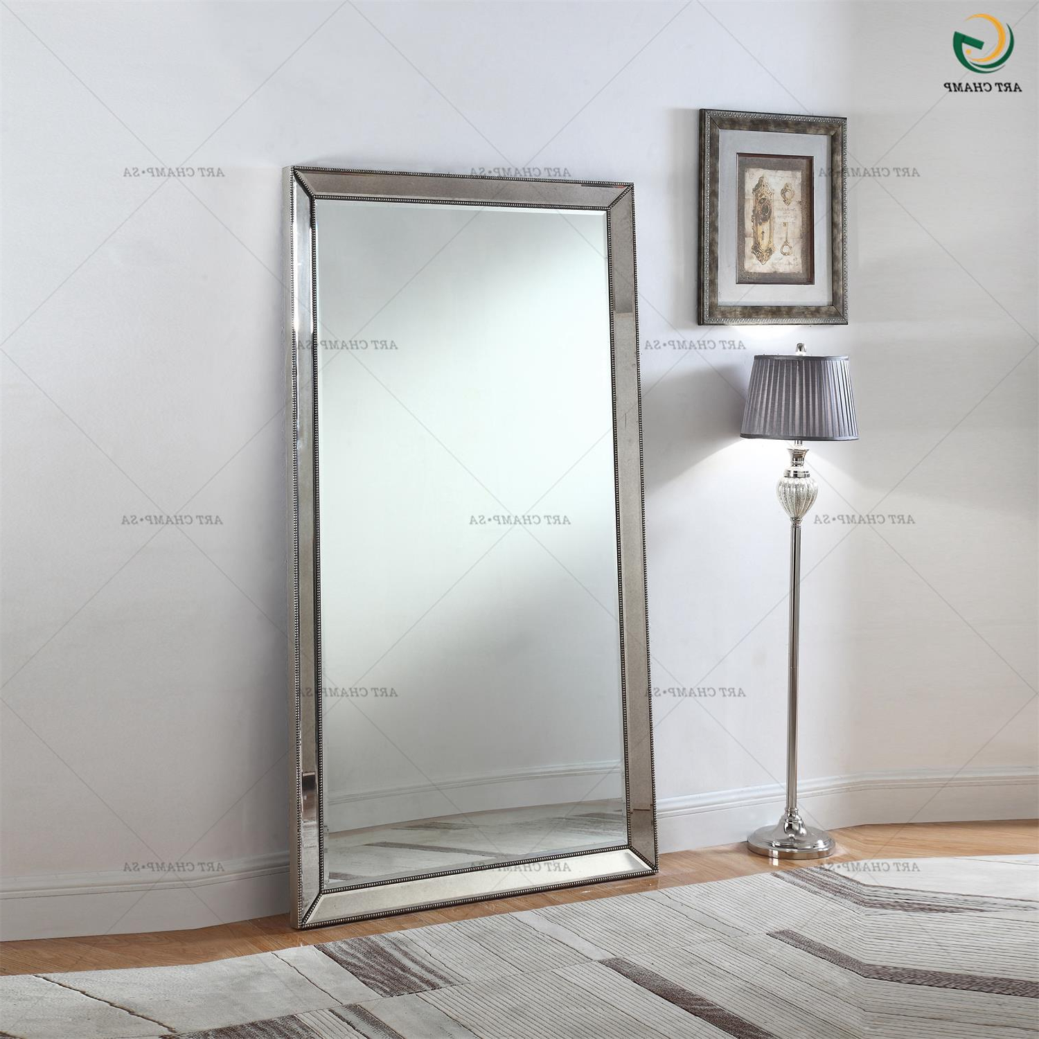Preferred Large Full Length Wall Mirrors With Regard To Frame Silver Bunnings About Wonderful For Full Mirror Leaner Large (View 10 of 20)