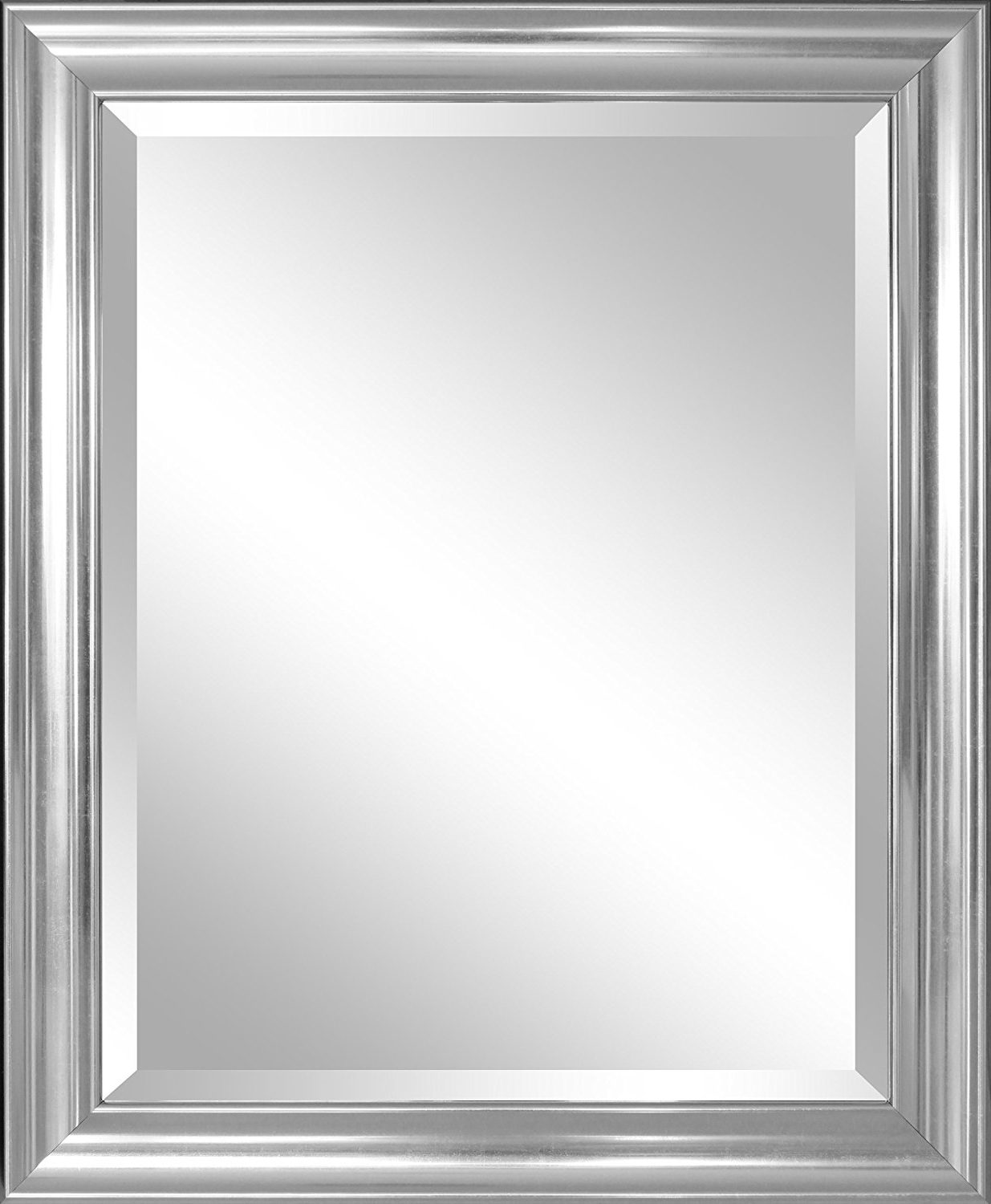 Preferred Large Silver Framed Wall Mirror Inside Silver Wall Mirror For Antique And Elegant Look (View 14 of 20)
