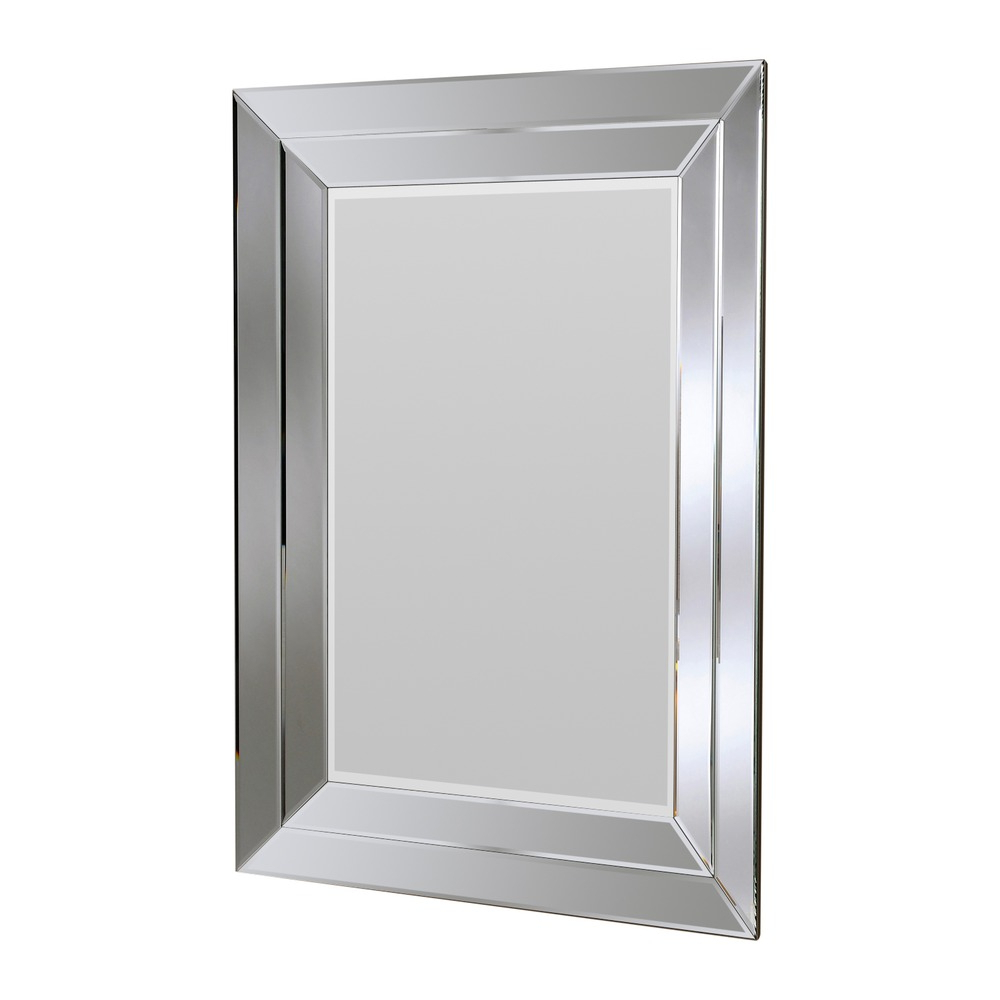 Preferred Large Silver Wall Mirrors Inside Cavalier Silver Wall Mirror (View 9 of 20)