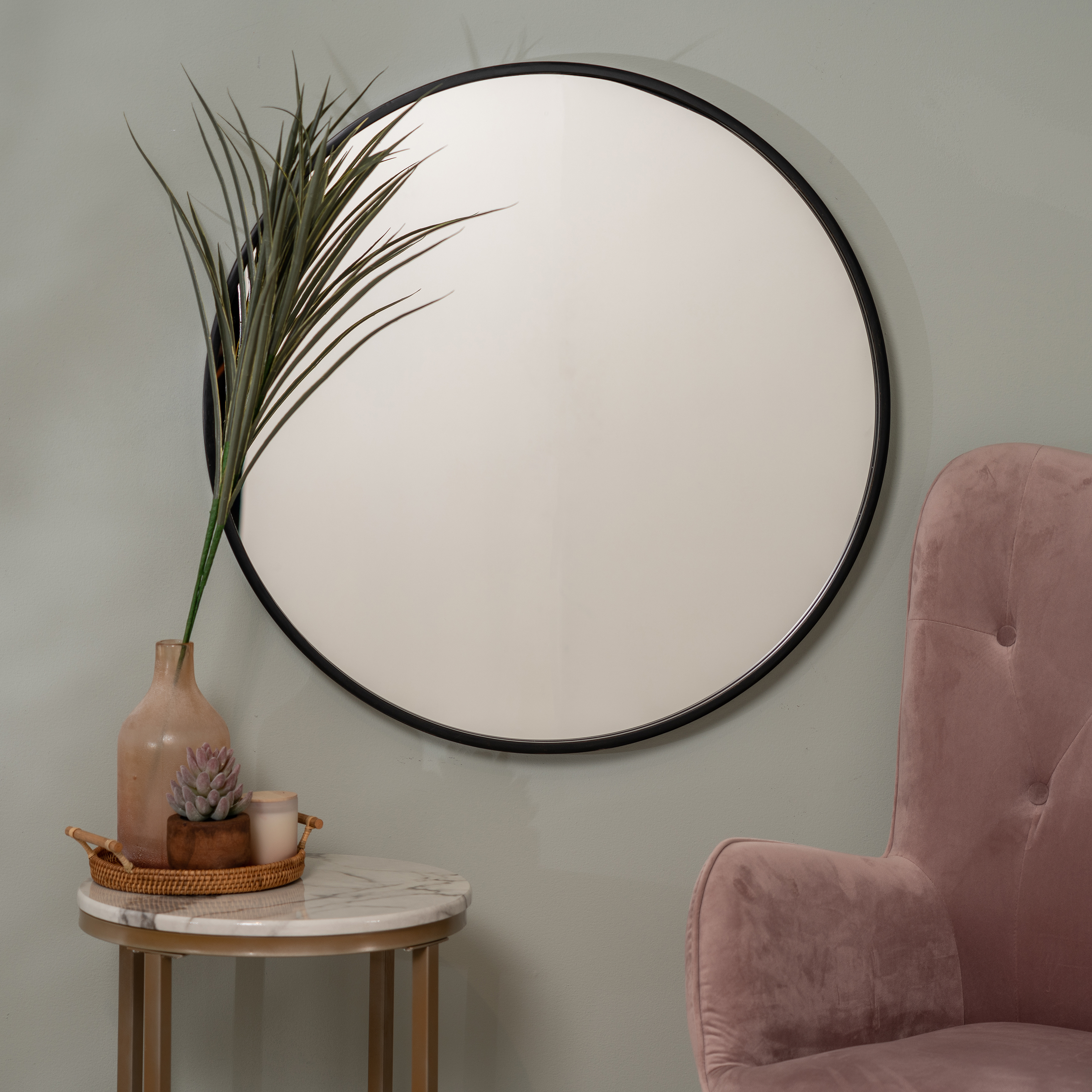 Preferred Luna Wall Mirror With Luna Accent Mirrors (View 4 of 20)