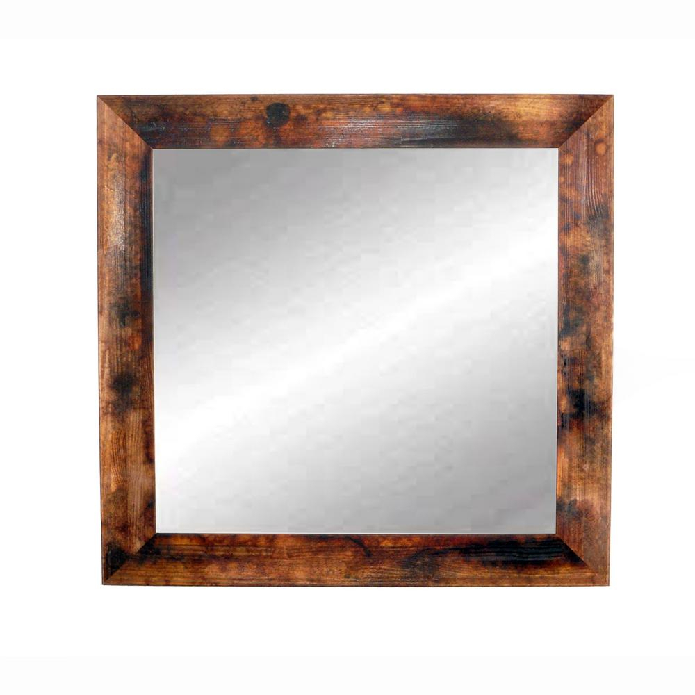 Preferred Marbled Mahogany Wall Mirror Regarding Mahogany Wall Mirrors (Gallery 4 of 20)