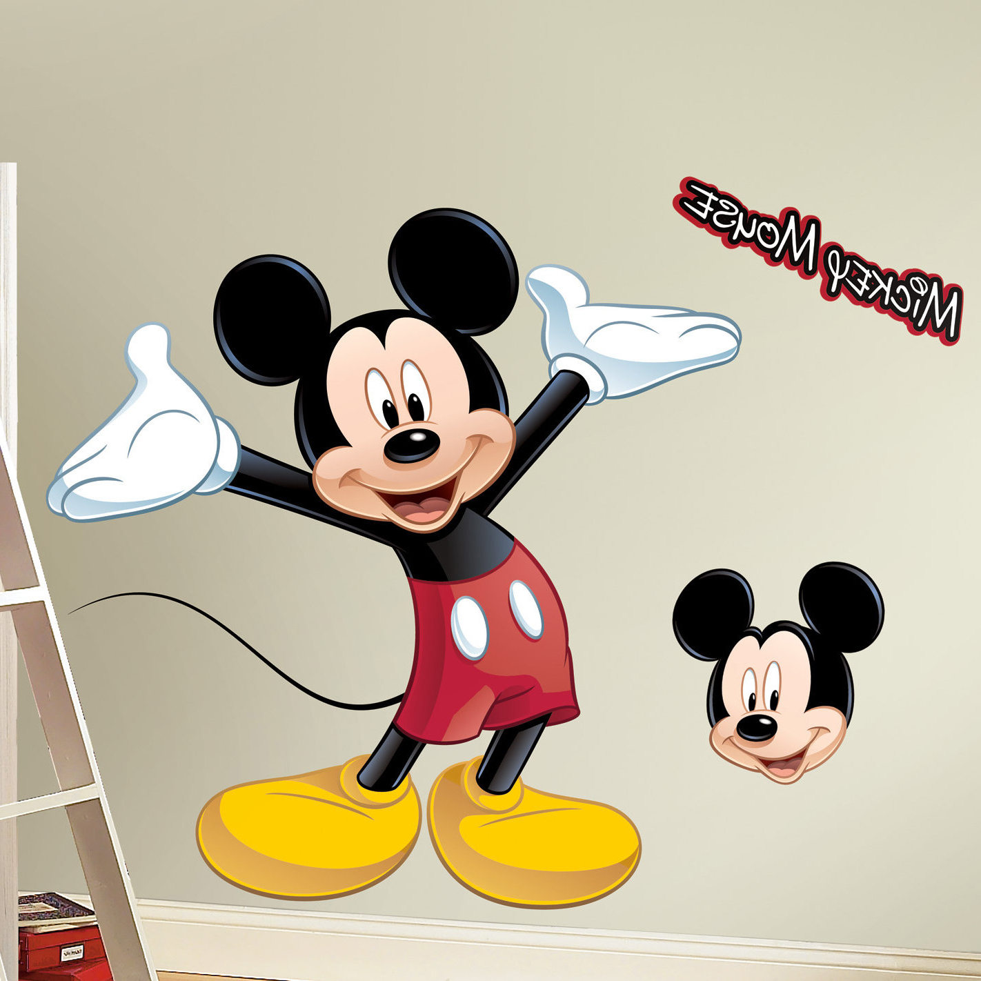 Preferred Mickey Mouse Wall Decal Throughout Mickey Mouse Wall Mirrors (Gallery 7 of 20)