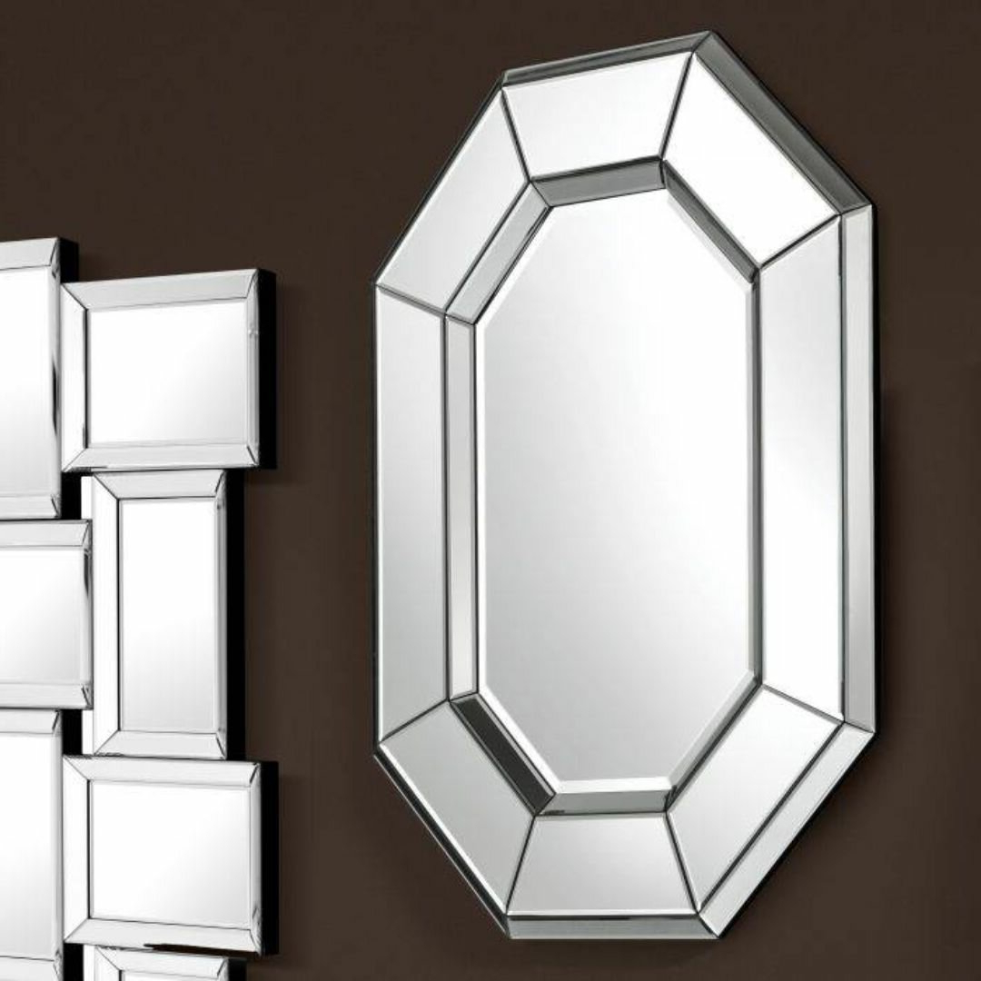 Preferred Modern & Contemporary Beveled Accent Mirrors Inside Le Sereno Octagonal Modern And Contemporary Beveled Accent Mirror (View 18 of 20)