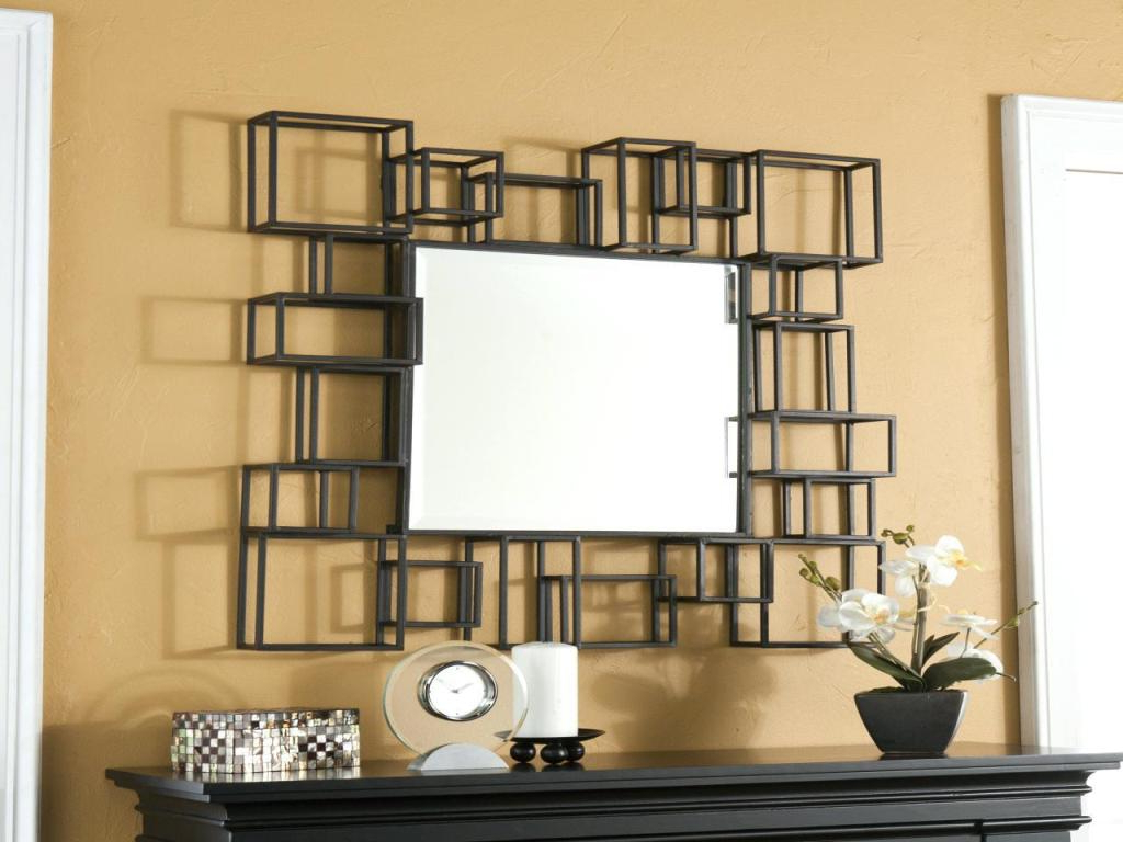 Preferred Modern Decorative Wall Mirrors Intended For Large Modern Decorative Wall Mirrors : Great Effect Of (View 17 of 20)