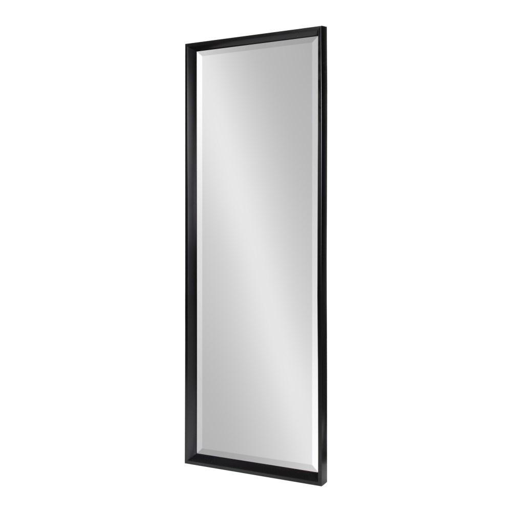 Preferred Plastic Wall Mirrors Pertaining To Kate And Laurel Calter Rectangle Black Plastic Wall Mirror  (View 16 of 20)